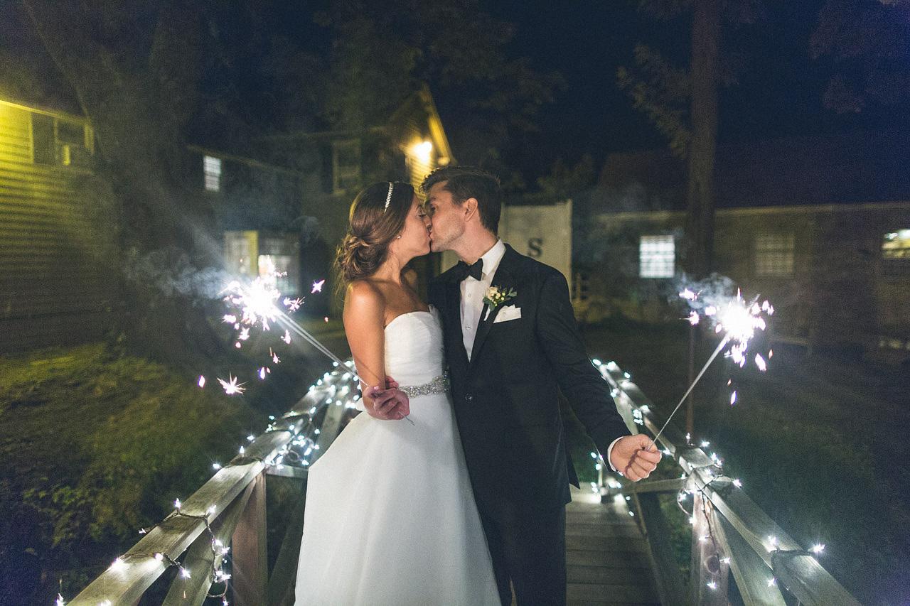 Inn at Millrace Pond Wedding Sparklers