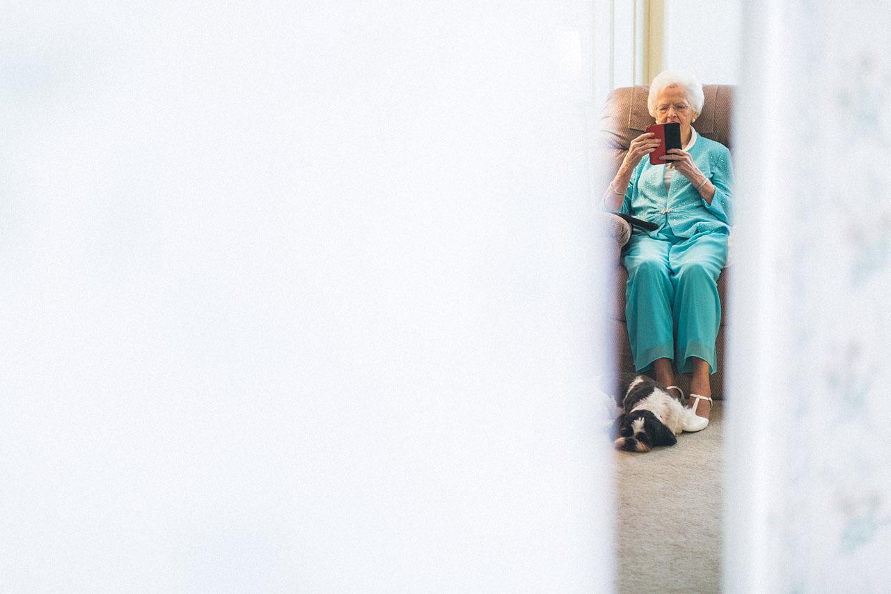 Grandma waits