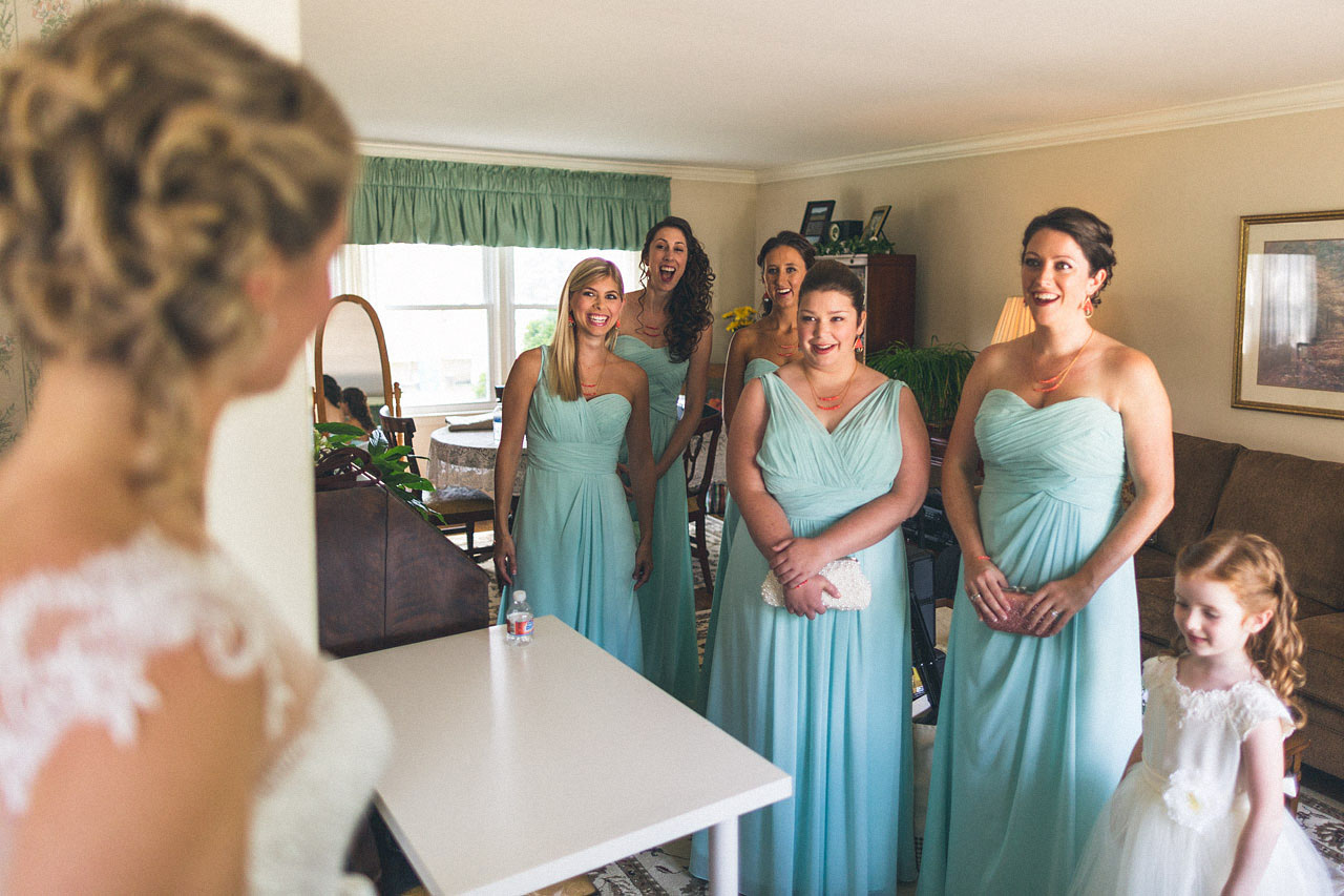 First look for bridal party