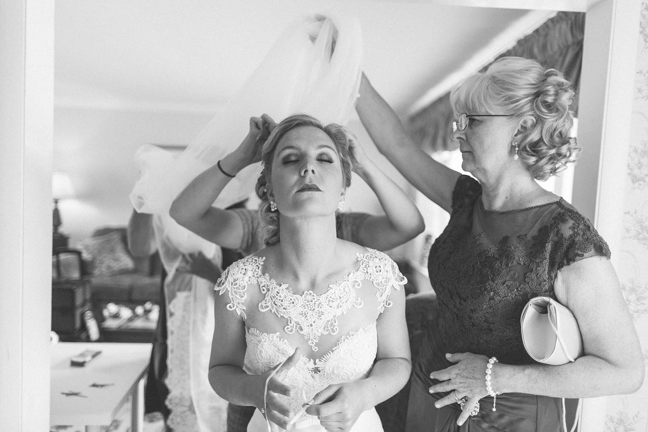 Bride gets vail on