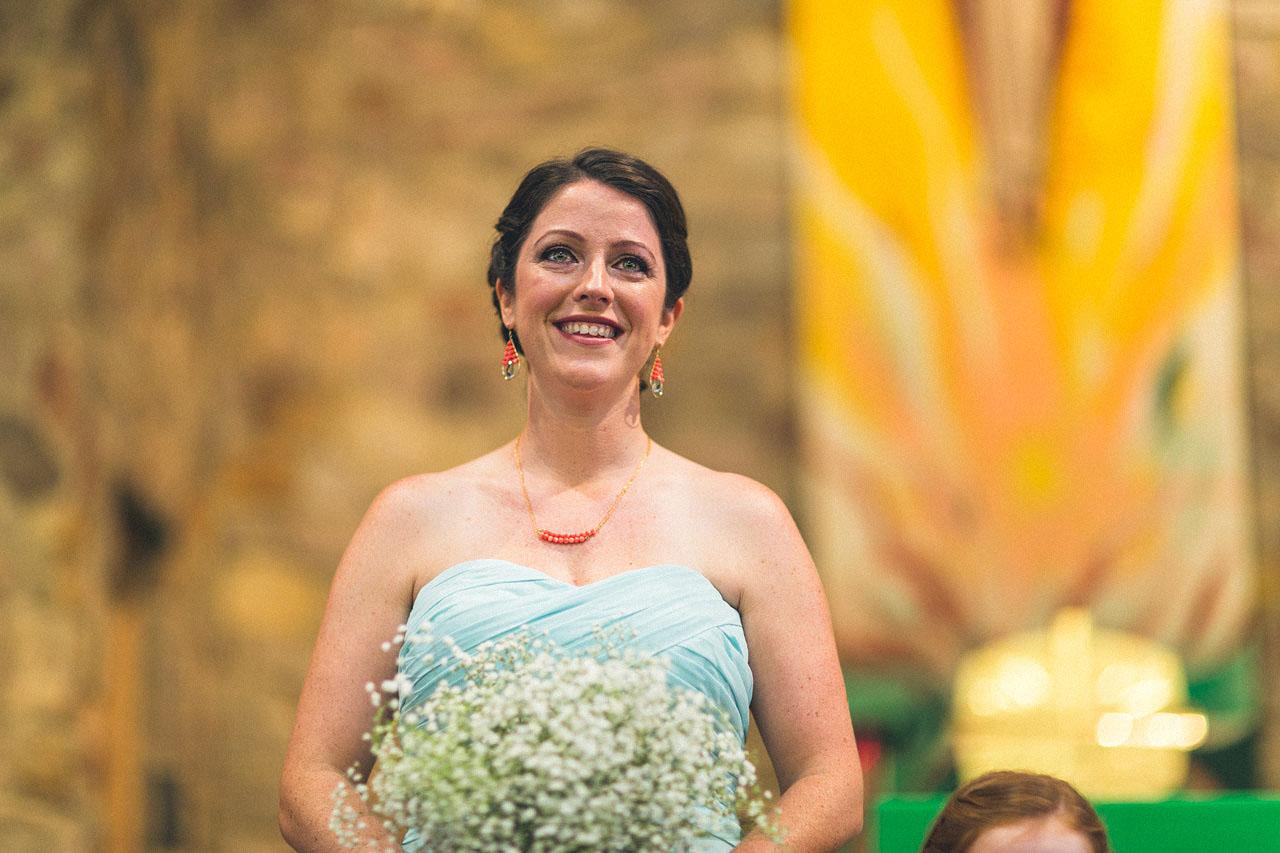 Sister looks at Bride