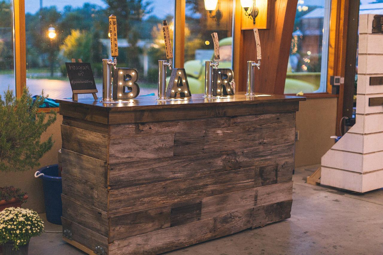 Custom Wedding Bar