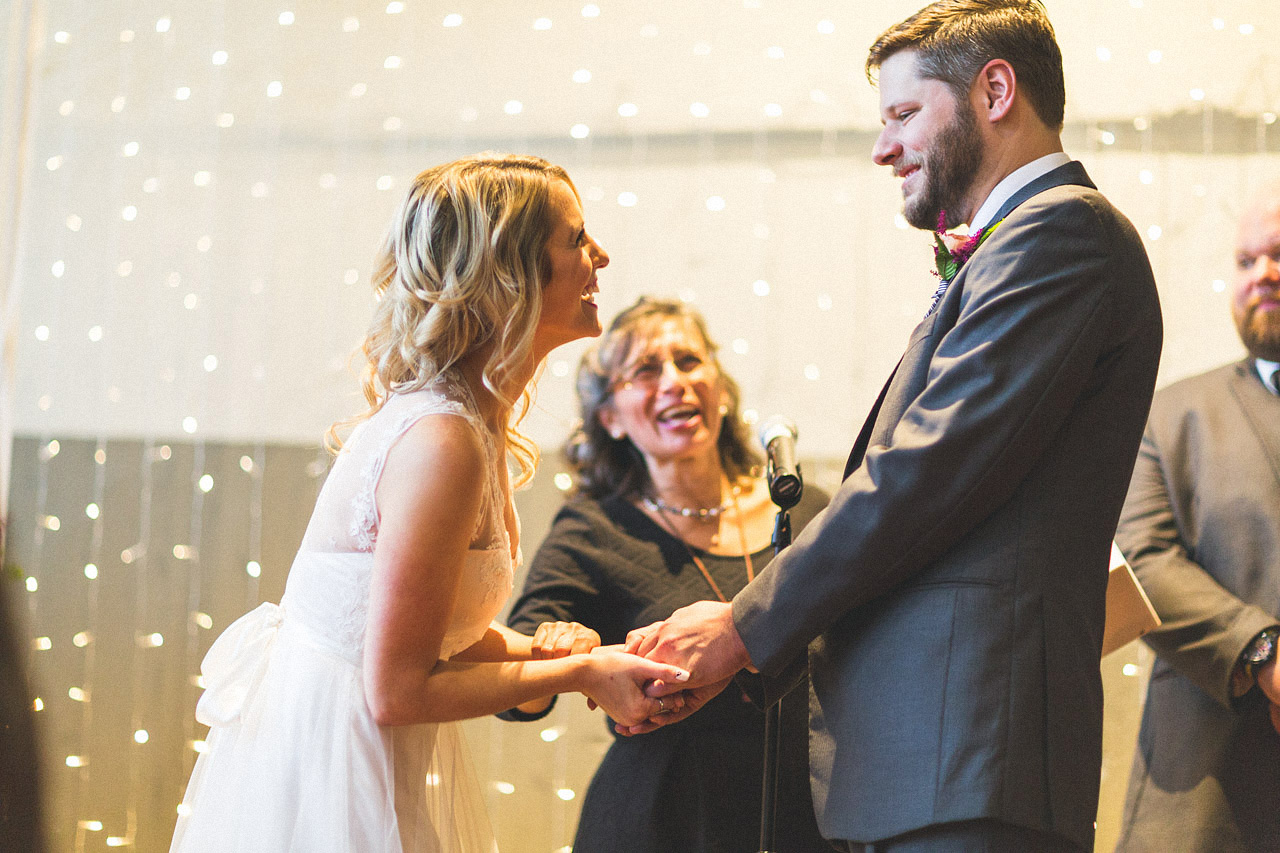 Bride and Groom Laughs