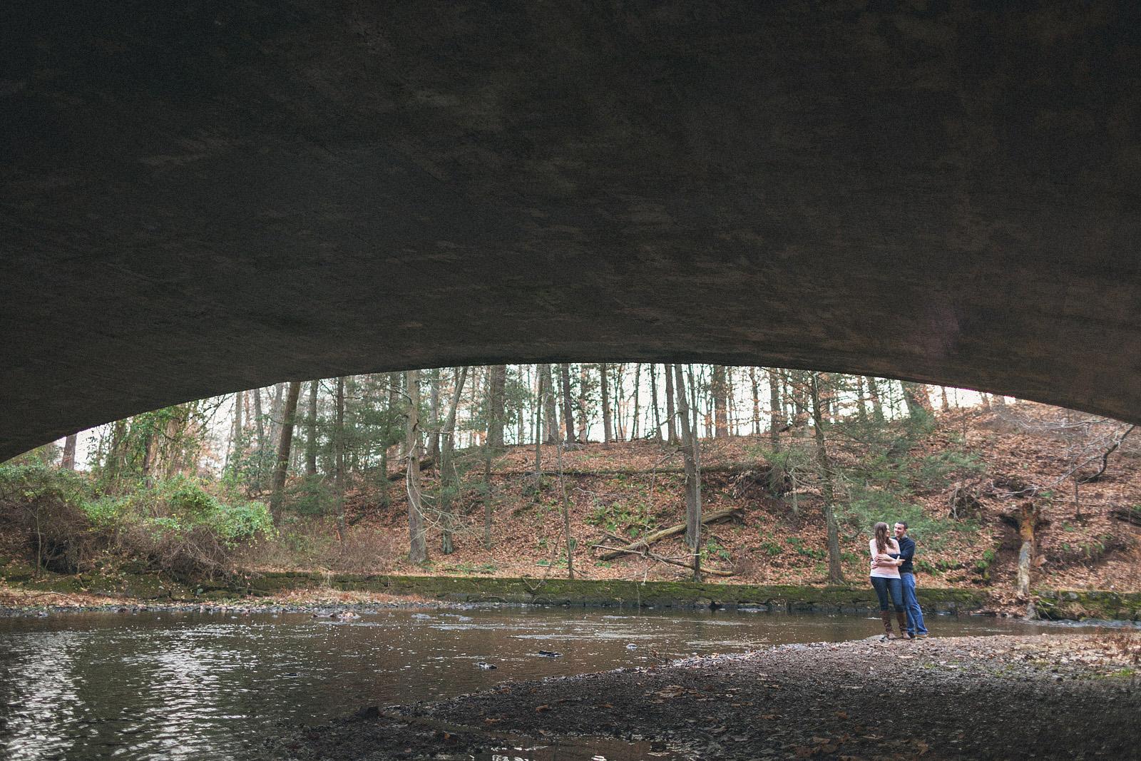 Natirar Park Bridge Engagement