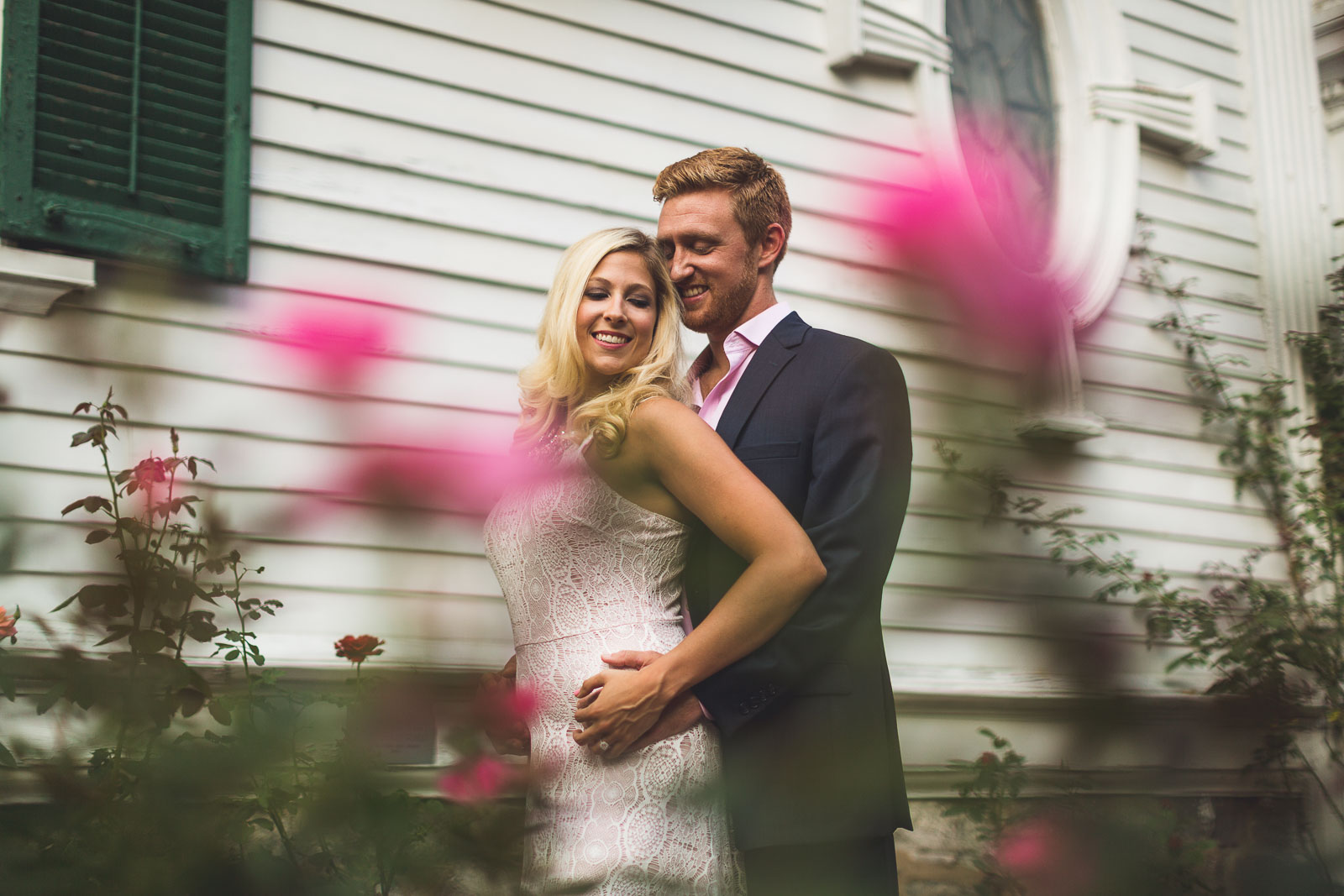 Rose Garden Engagement Photography