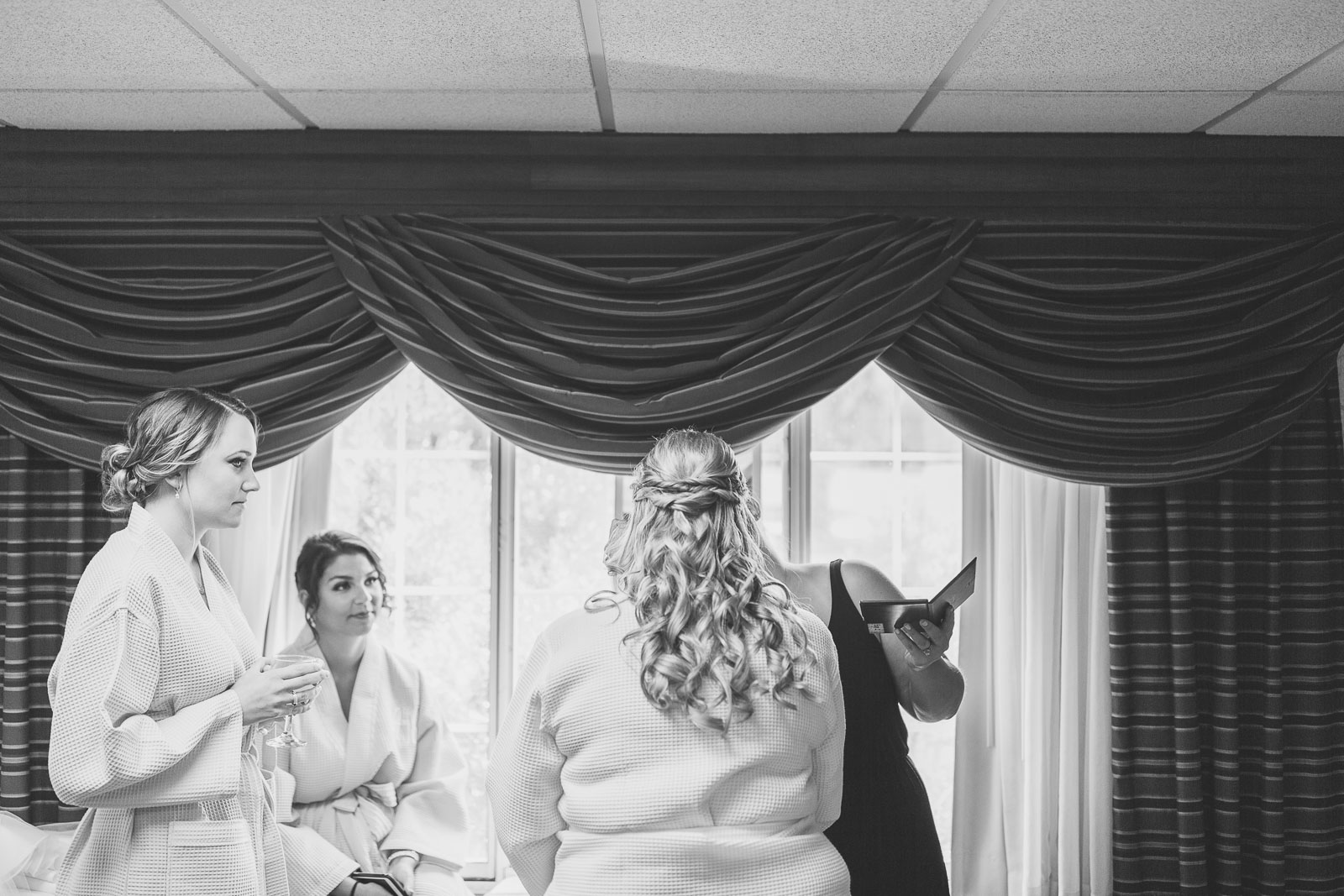 Bride gets finishing touches