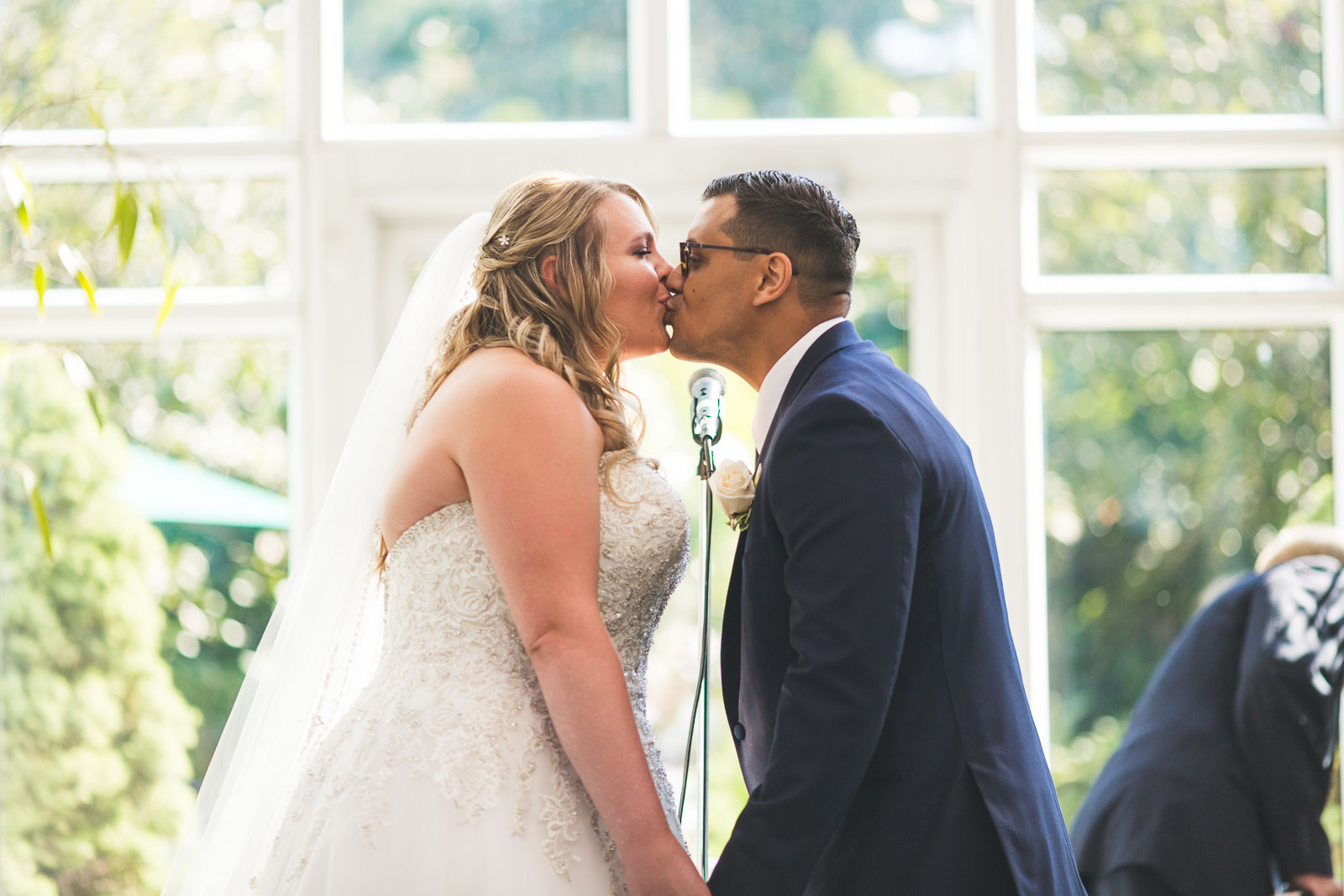 First Kiss Madison Hotel Wedding