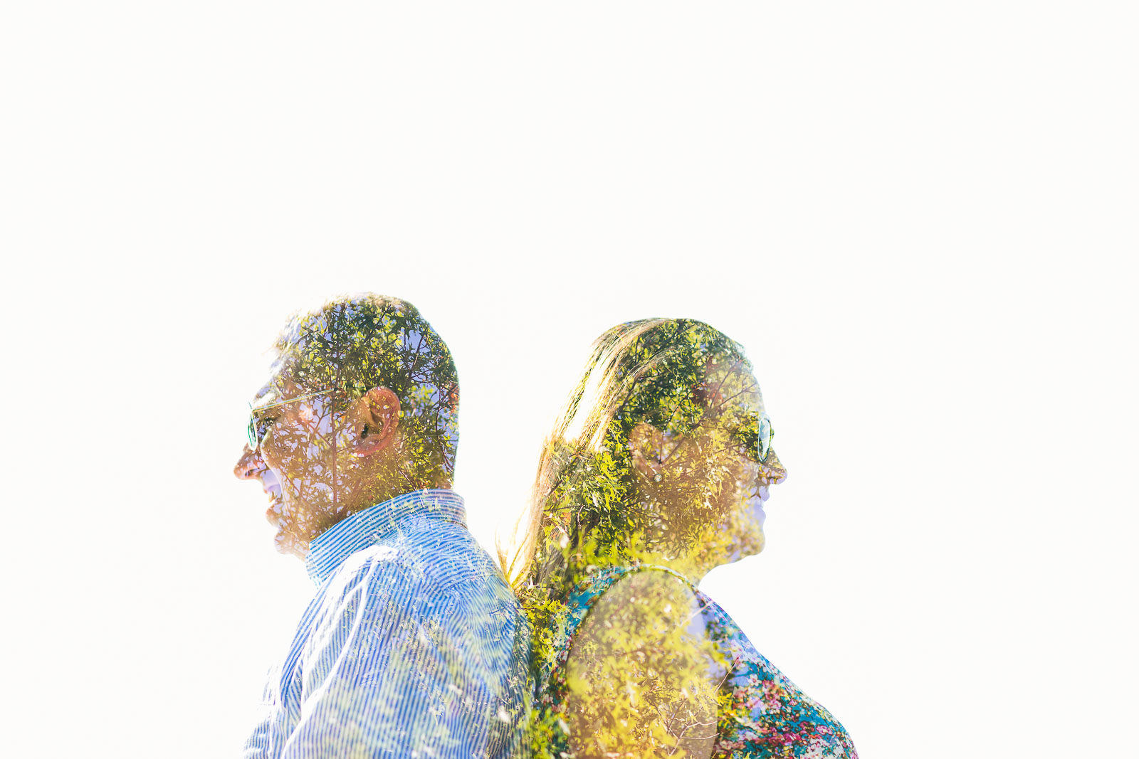 Double Exposure Engagement Photo