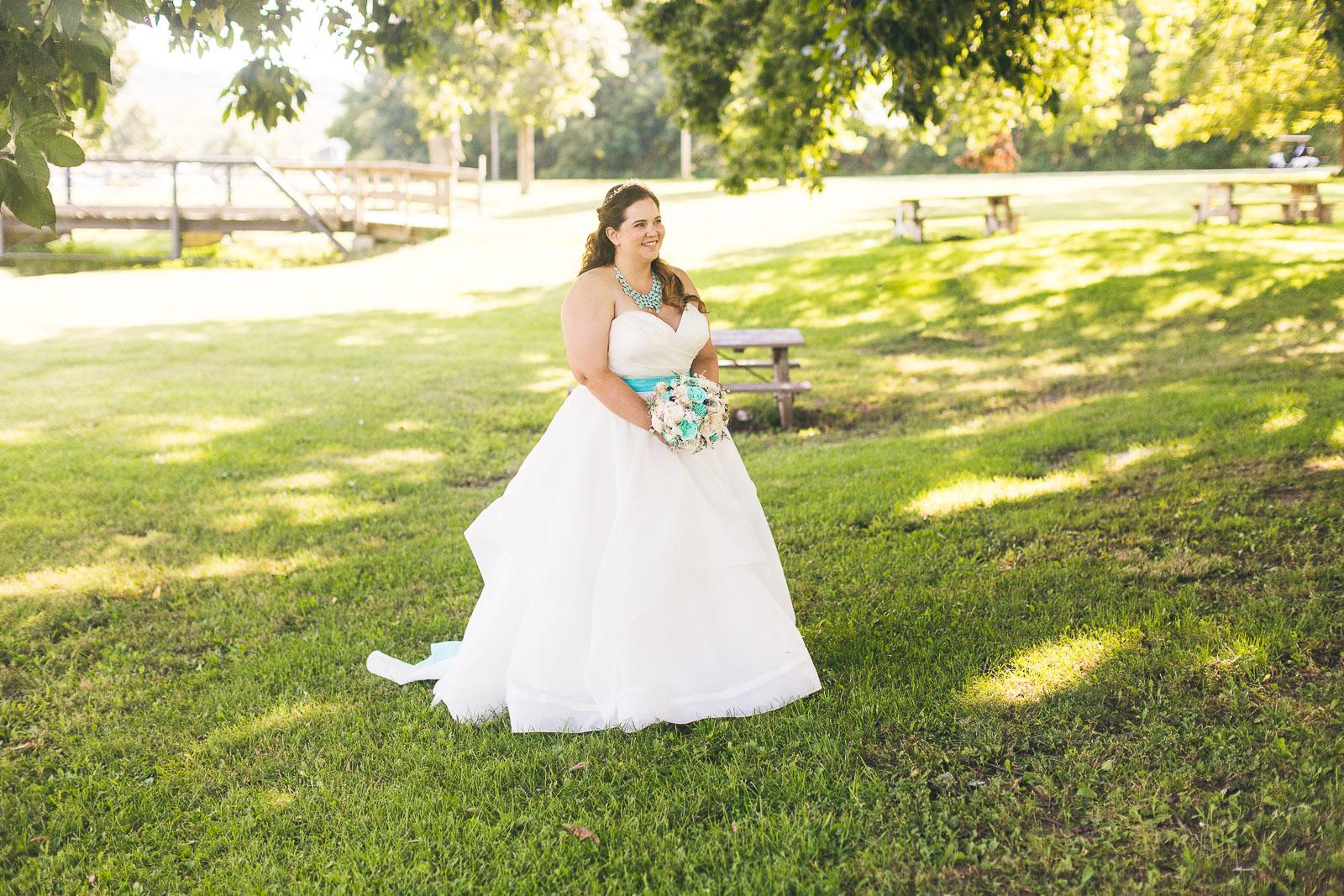 Bride waiting to see groom