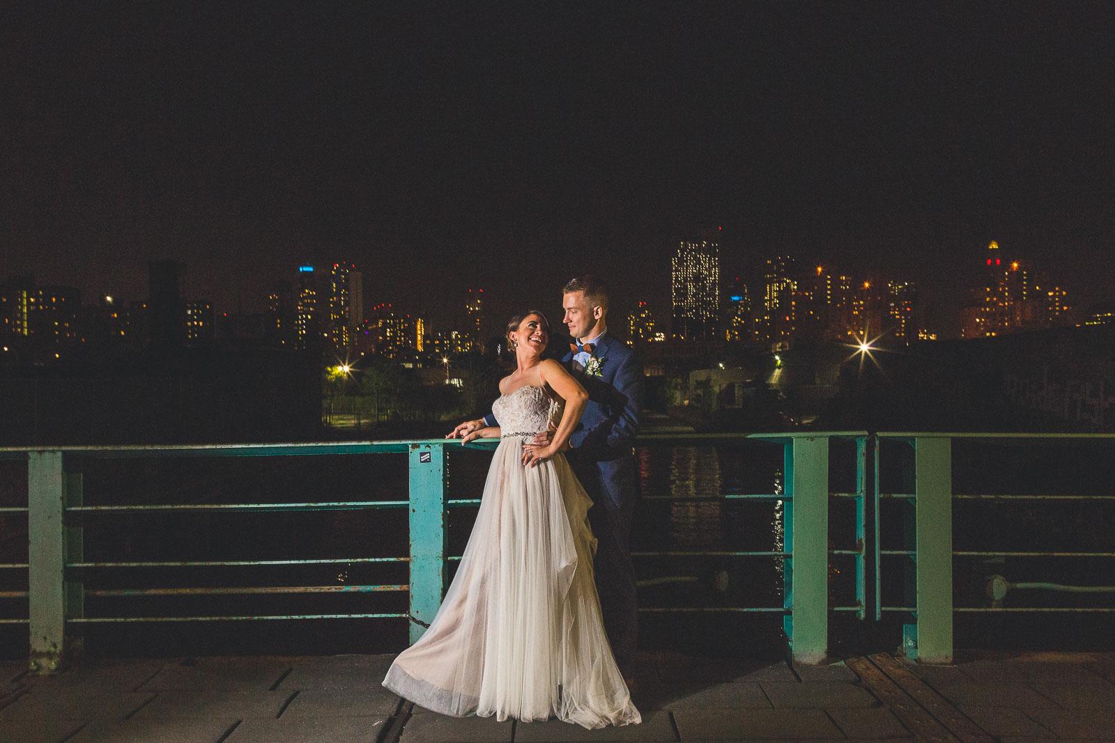 Night Time Photography Wedding Brooklyn NY