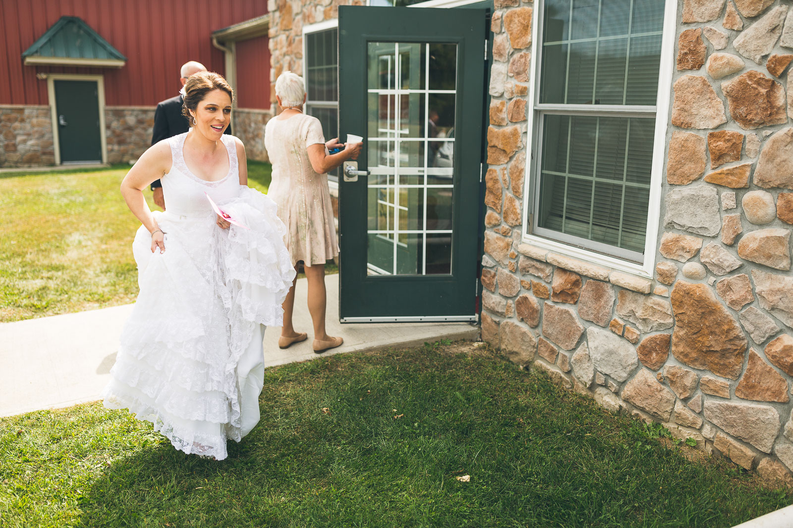 Bride gets ready for First Look