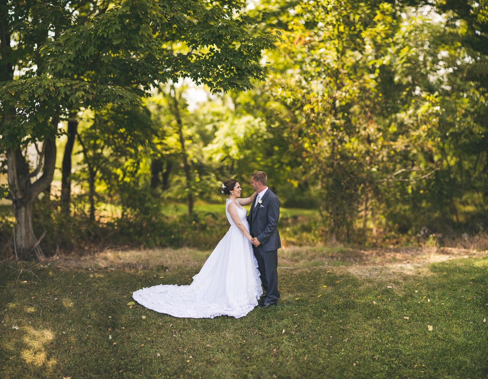 Creative Wedding Portrait Warren County New Jersey