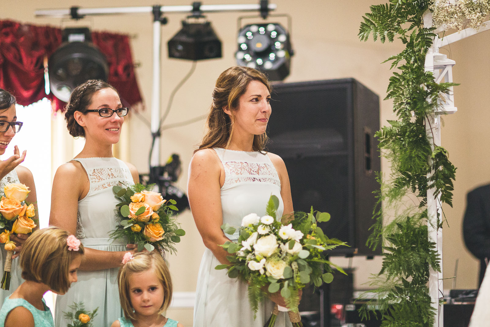 Sister tears up over brides vows