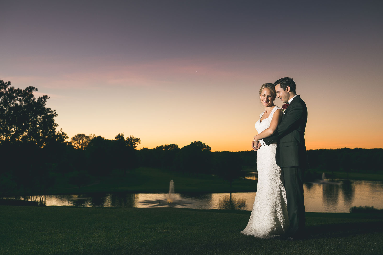 Brooklake Night Time Wedding Photography