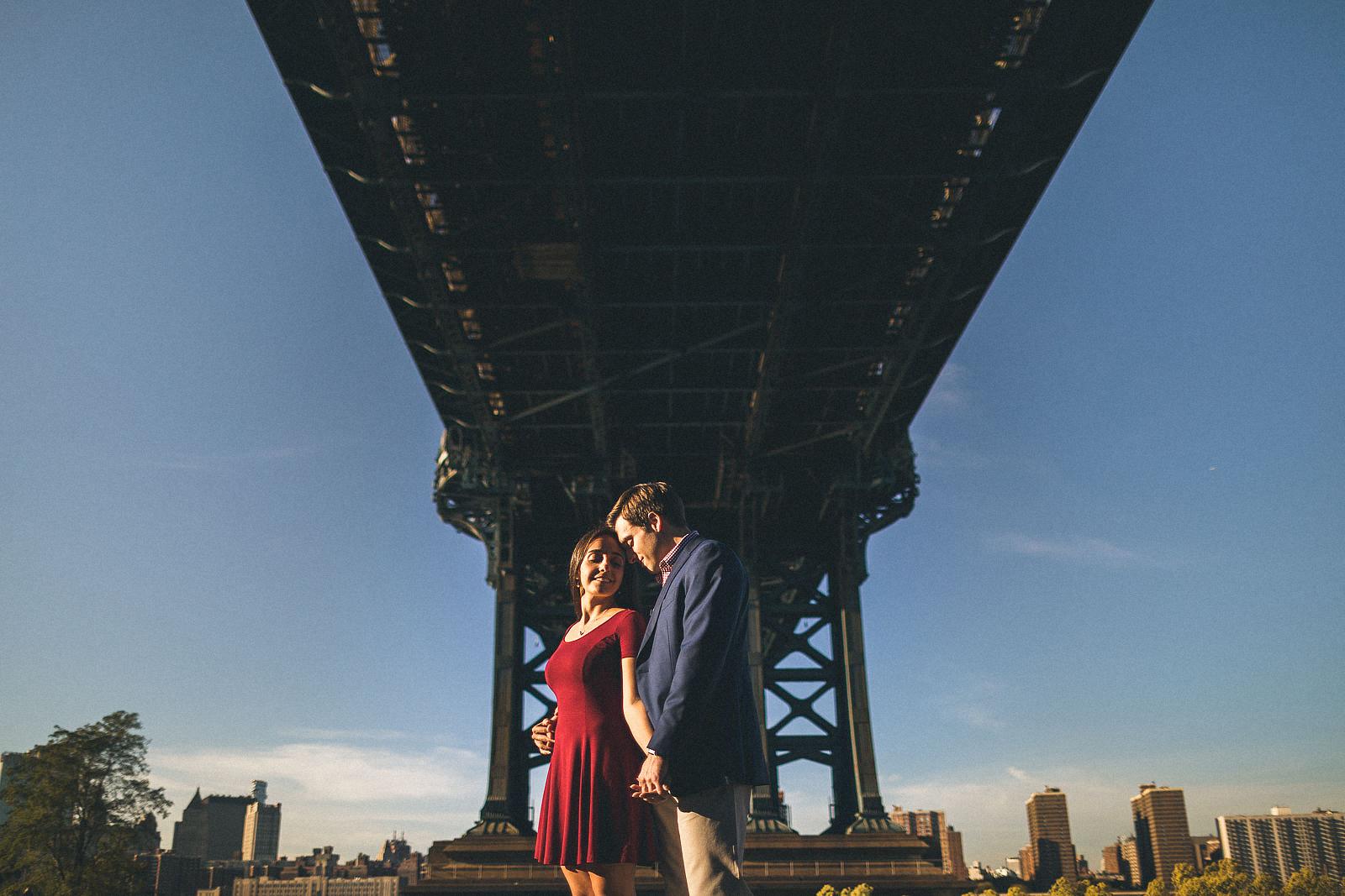 Manhattan Bridge Engagement Photography