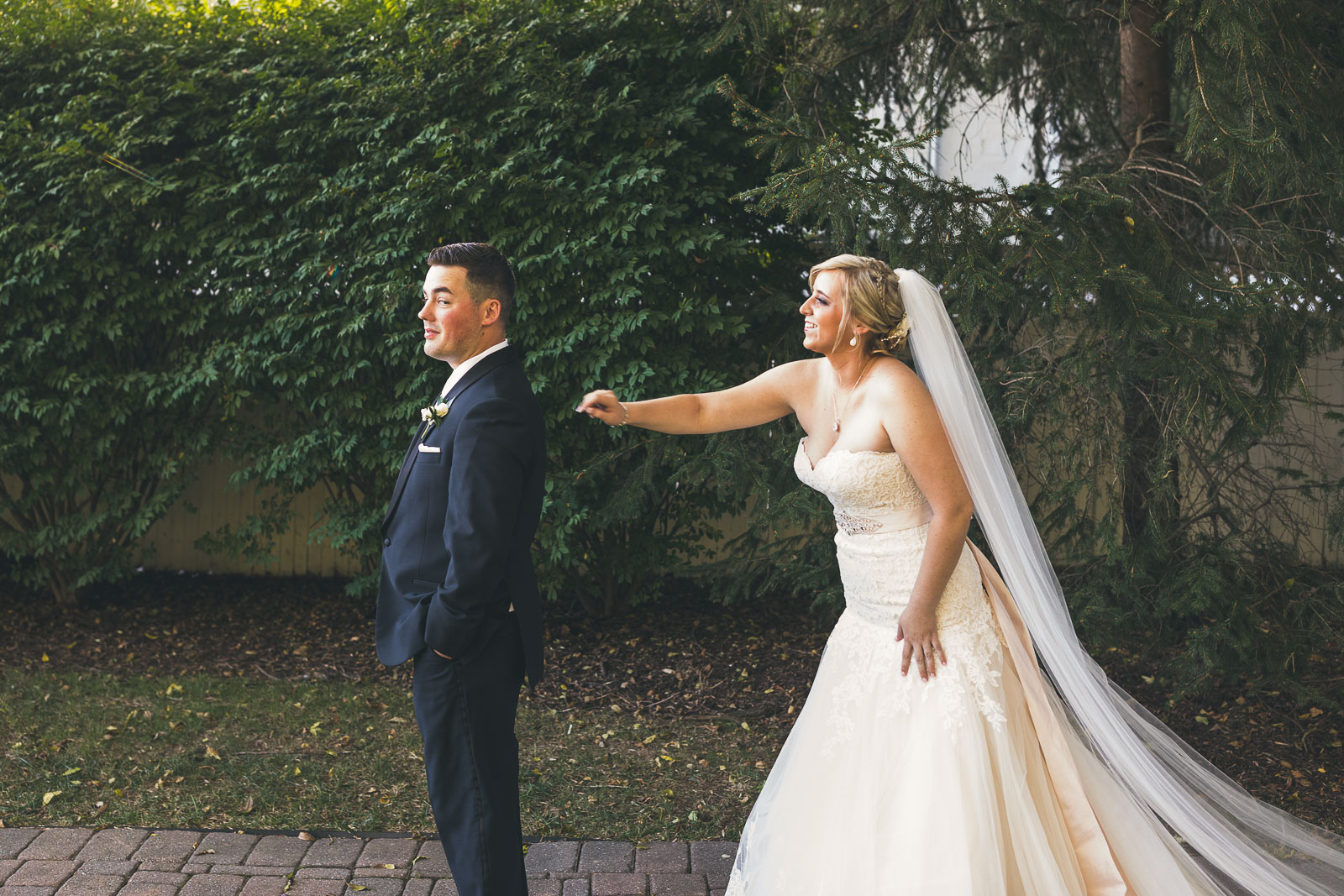 First Look with Bride and Groom