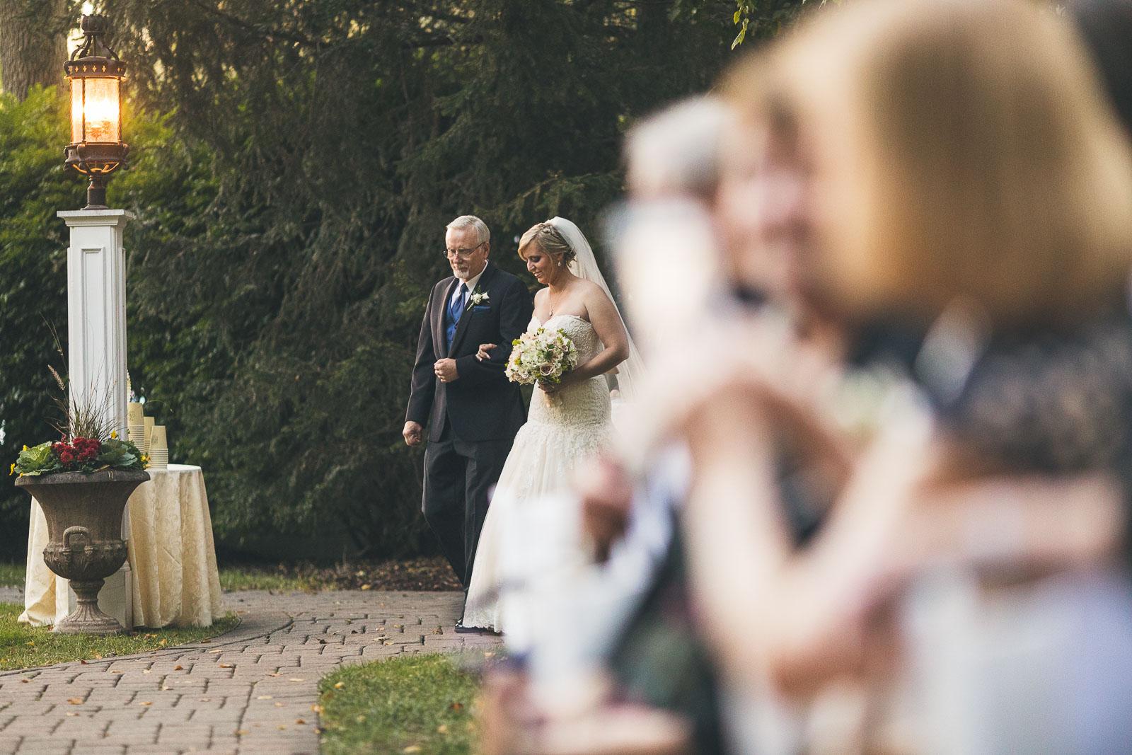 Father Walks Bride Down the Aisle