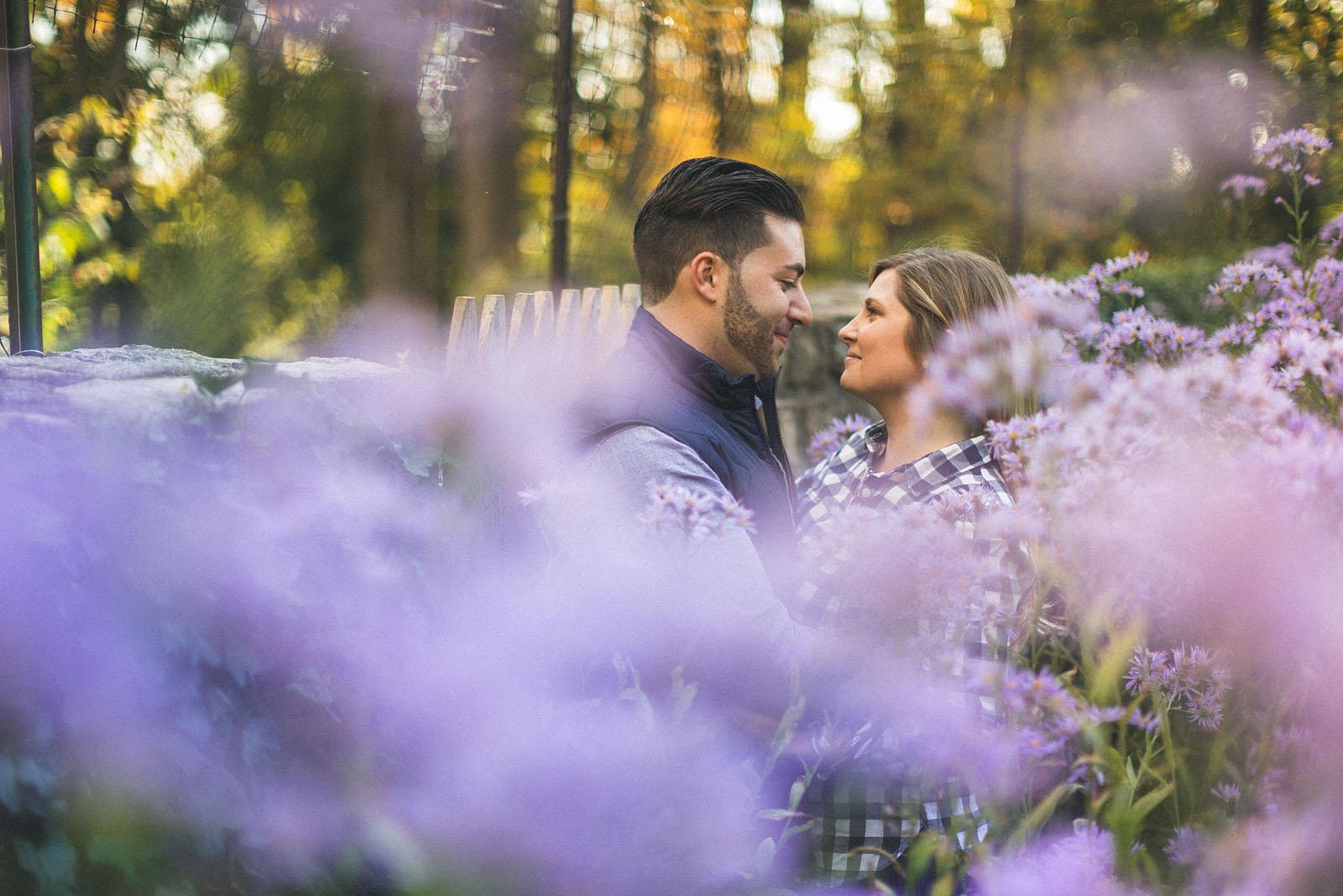 Purple Flowers Portrait Photography