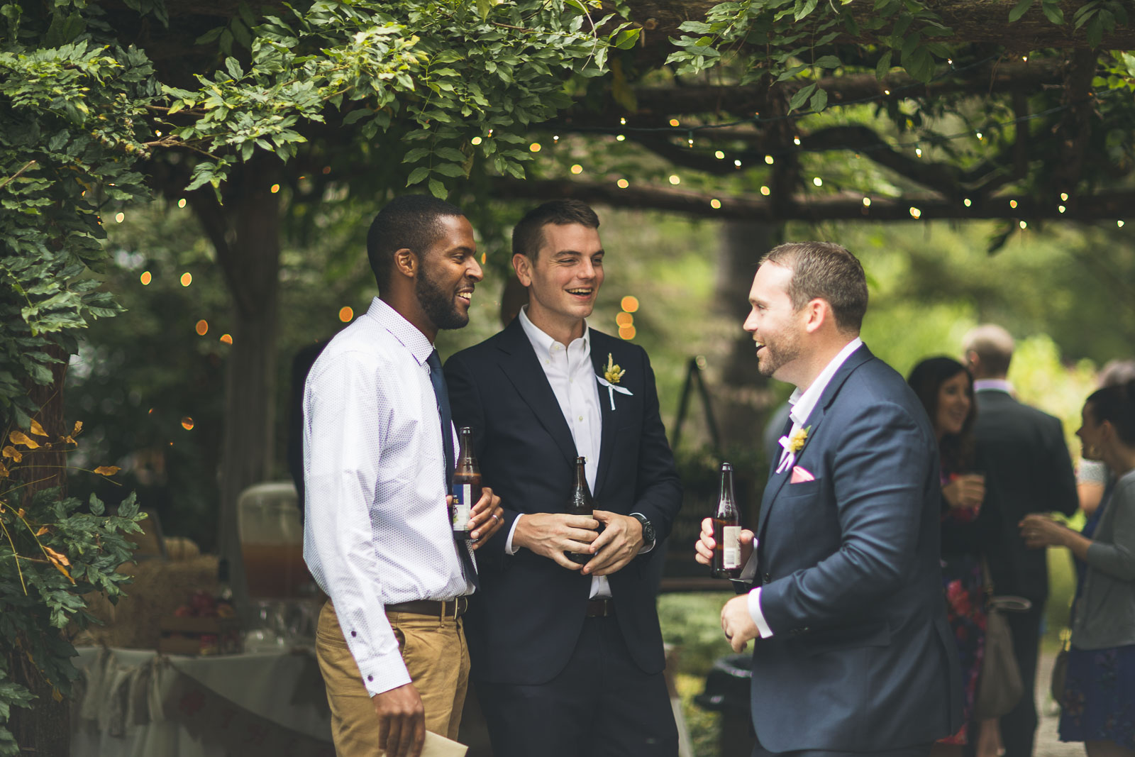 Groom Laughs Before Ceremony