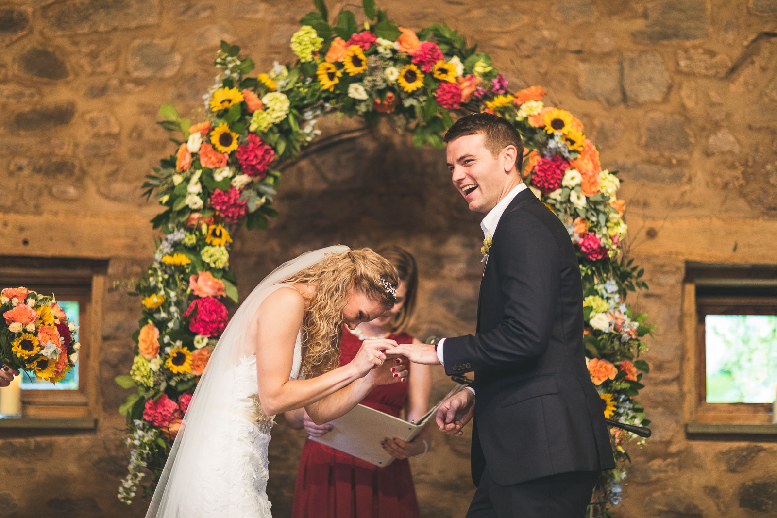 Bride puts ring on wrong hand