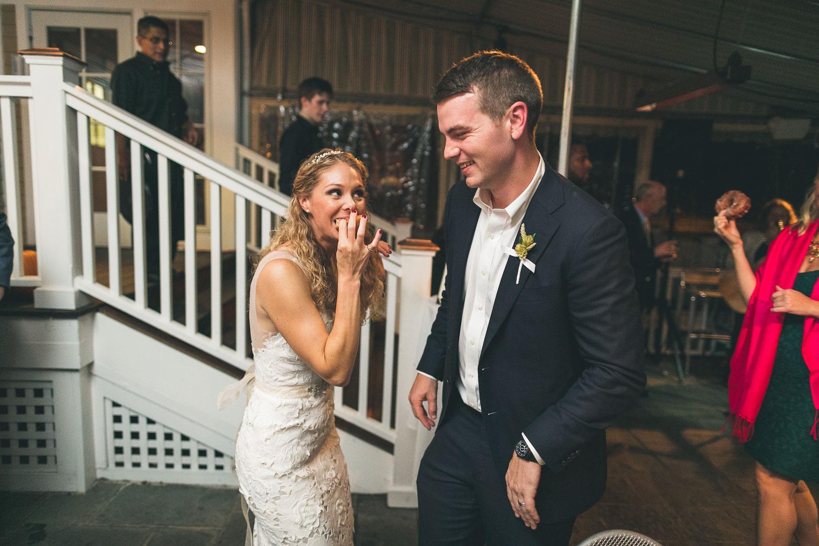 First Donut Bite Wedding