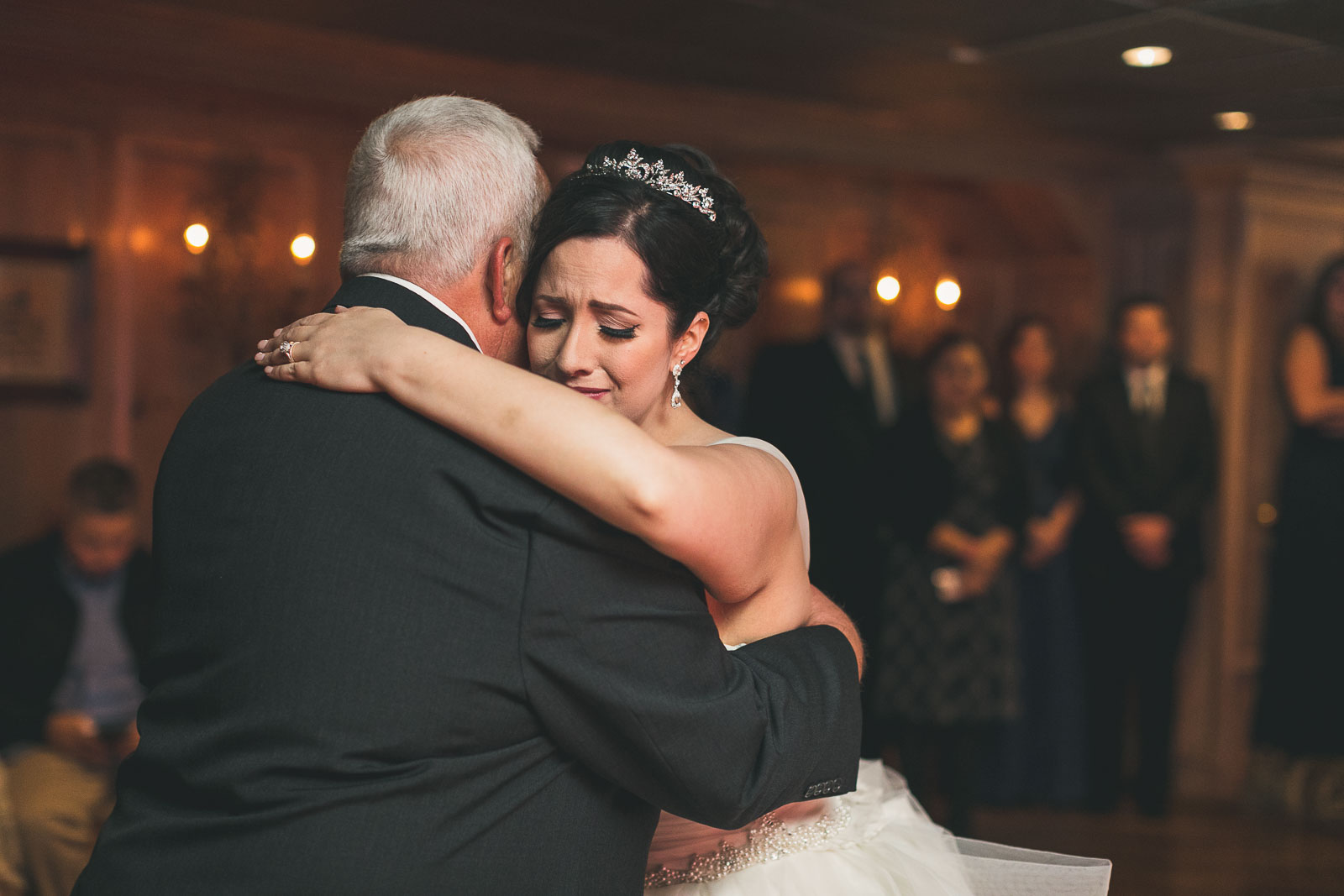 Father dances with daughter