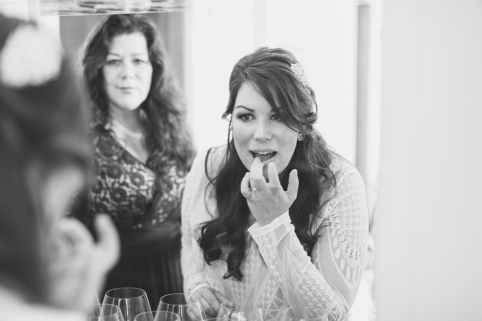 Bride Applying Lip Stick