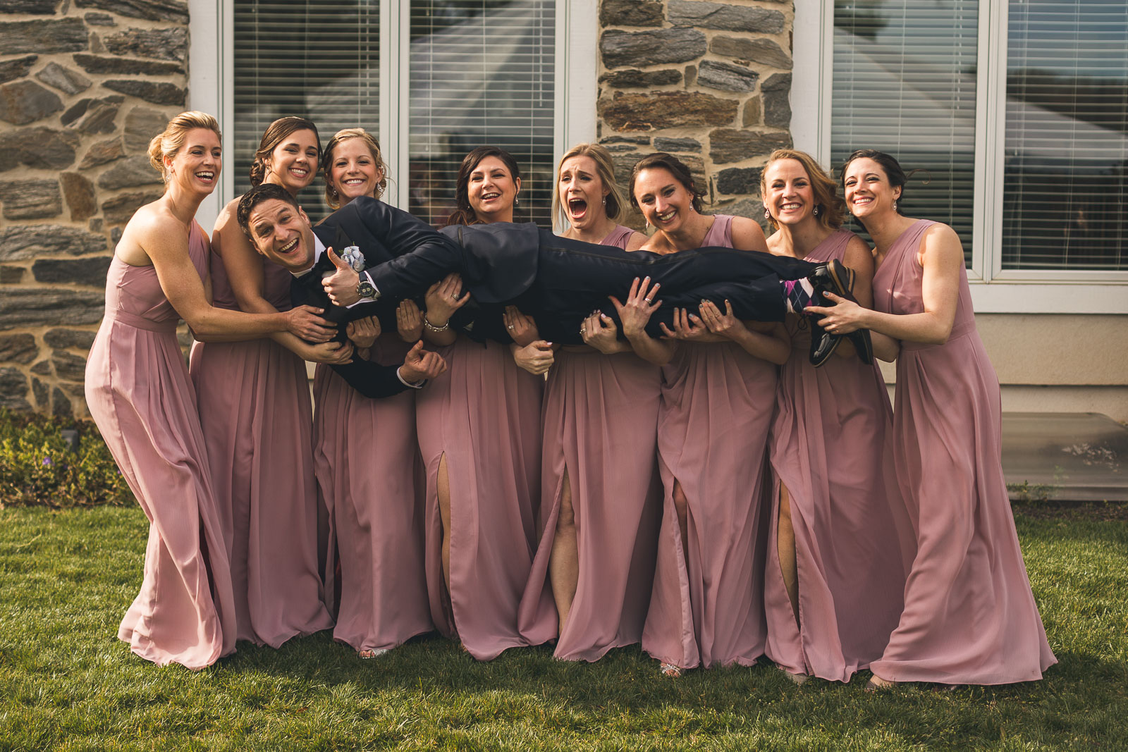 Bridesmaid get frisky with Groom