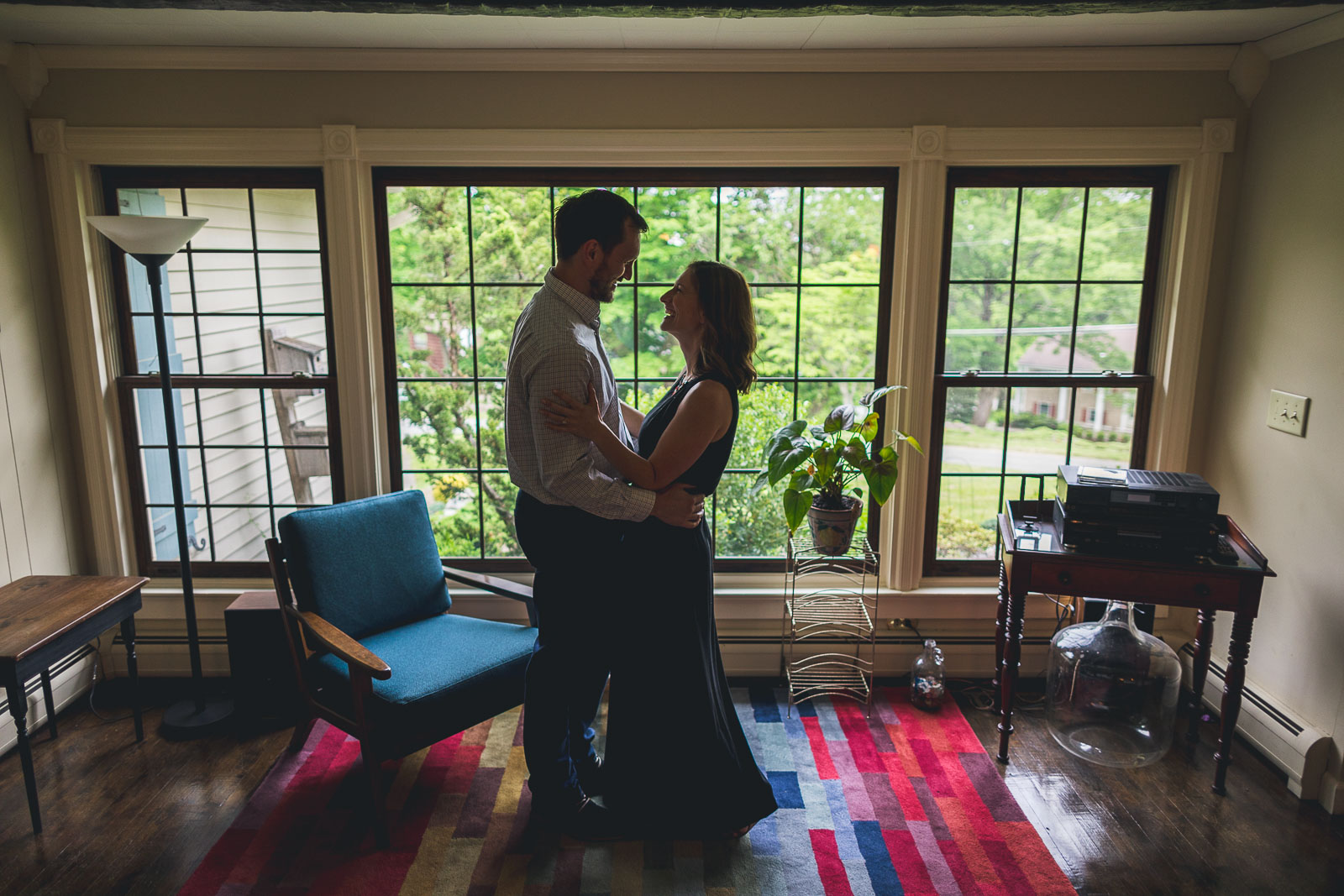 Morristown Engagement Photography at Home