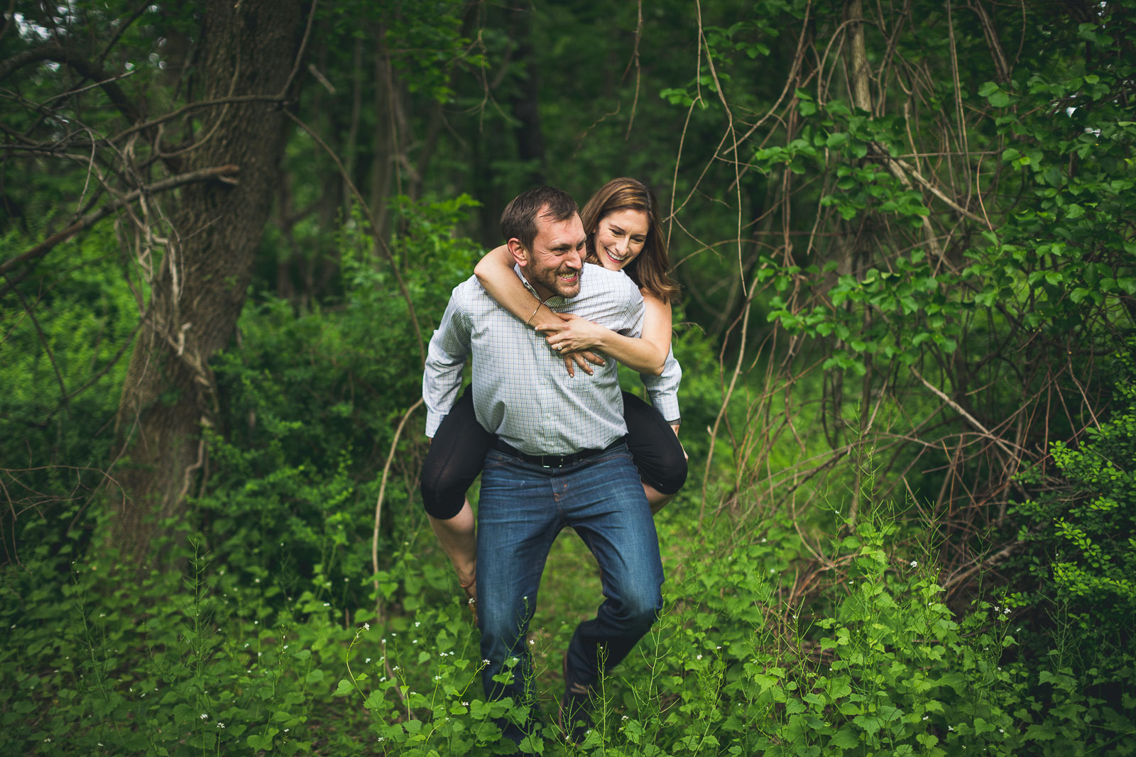 Helping your Fiancé through the woods