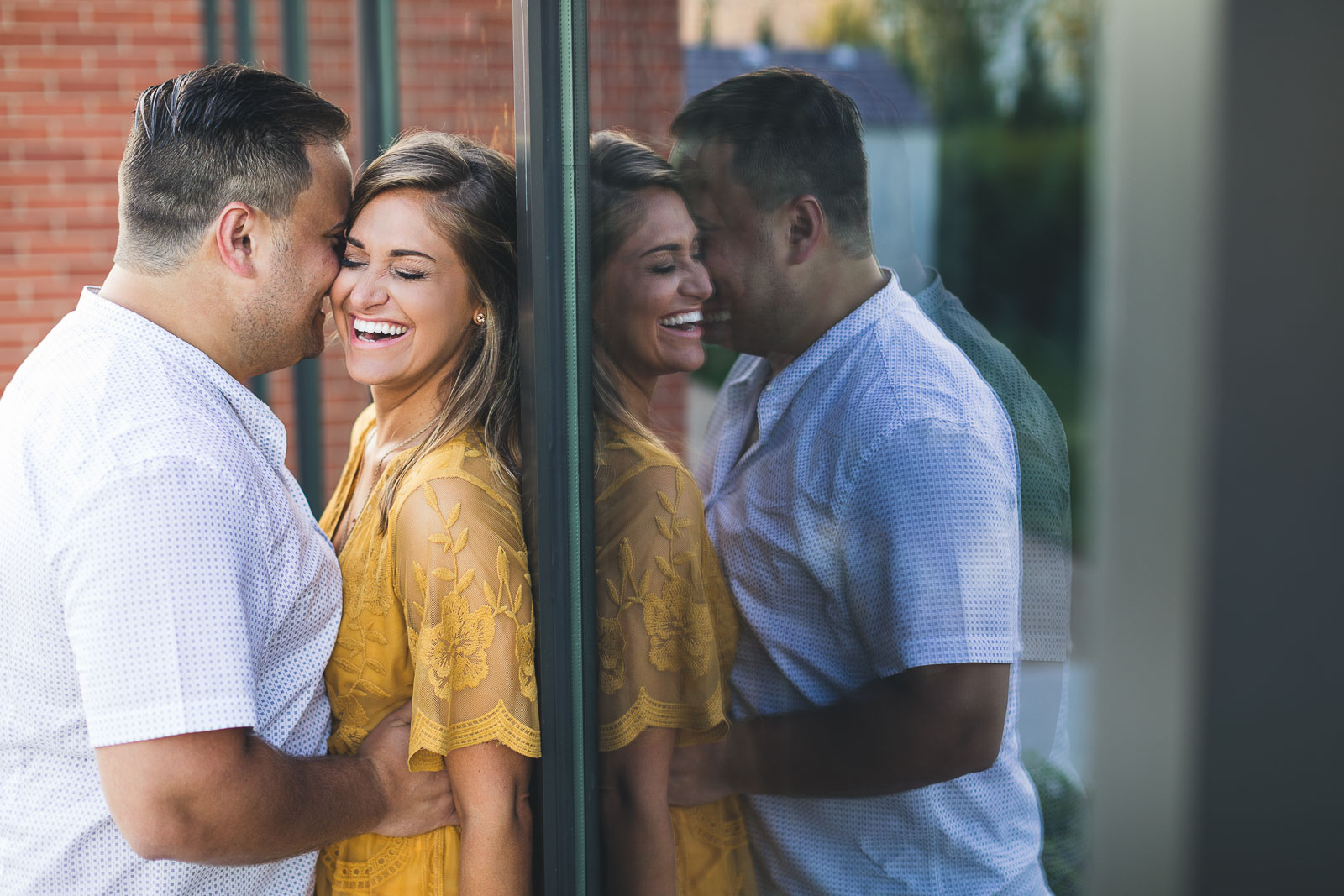 Natural Laughing Engagement Photos