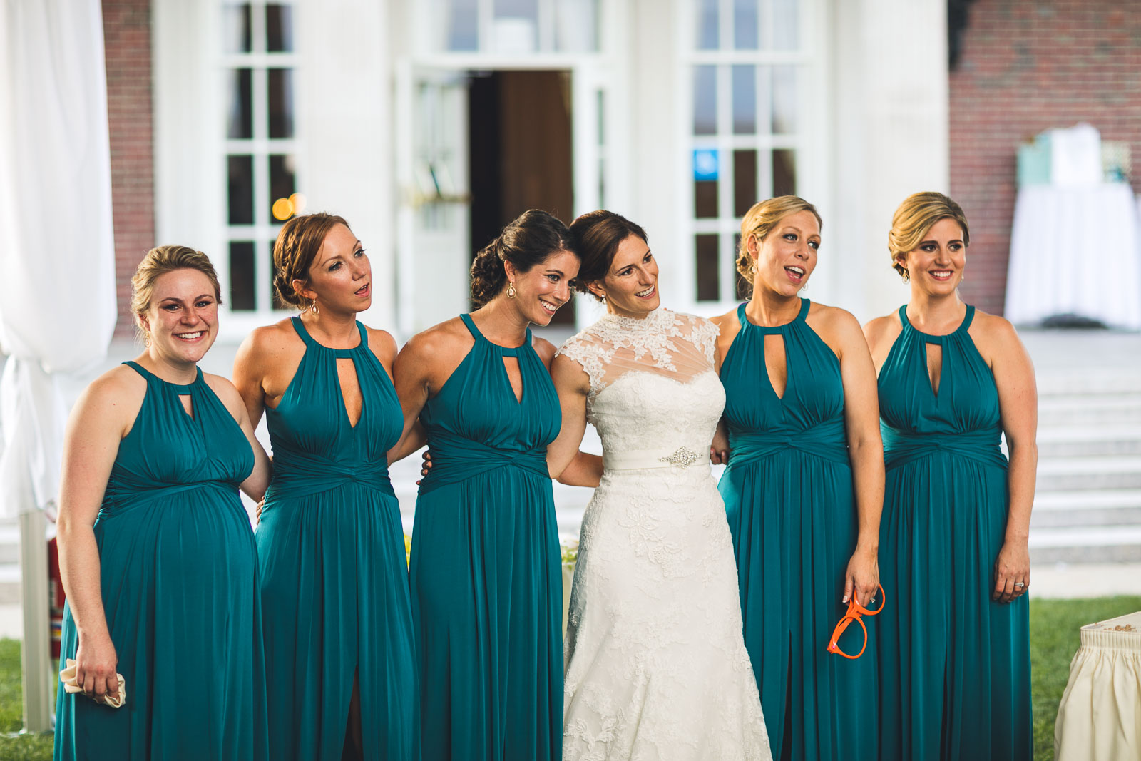 Bridal Party watches First Dance