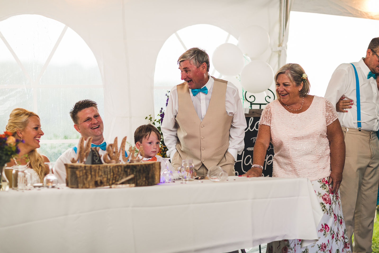 Laughing at Wedding Toasts
