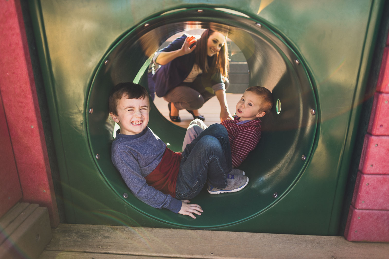 In the tunnel with Brother