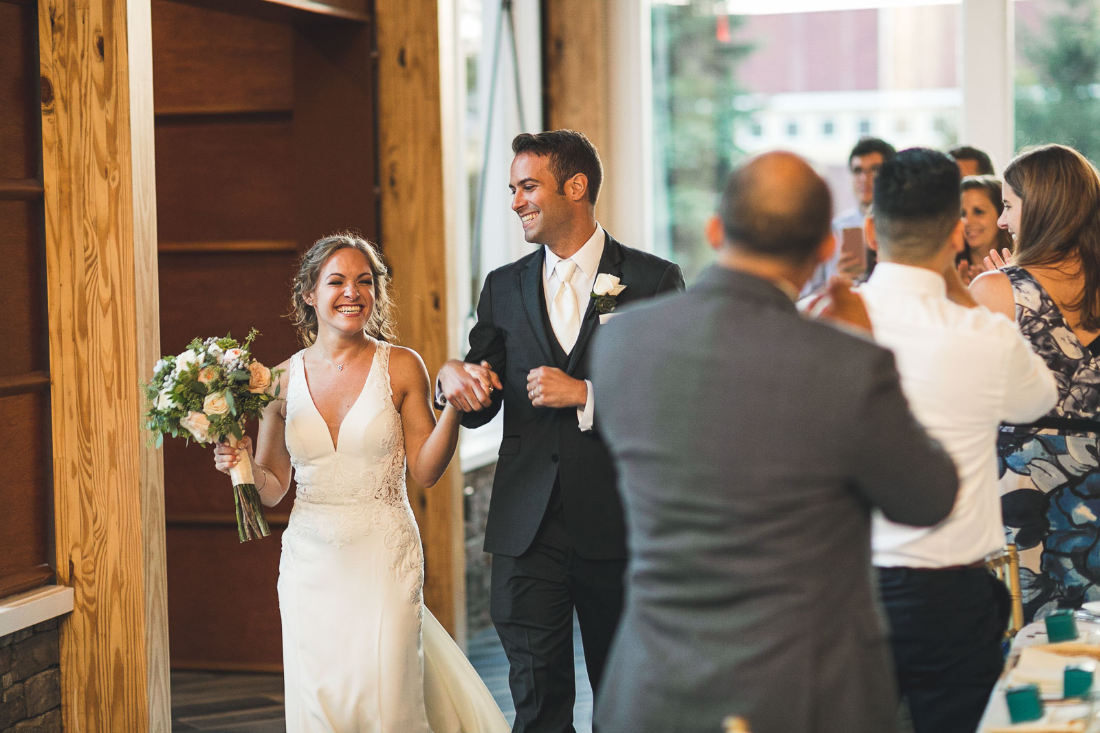 Bride and Groom introduced for the first time