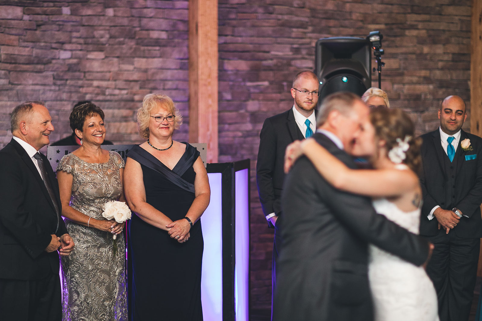 Mom smiles at Father/Daughter Dance