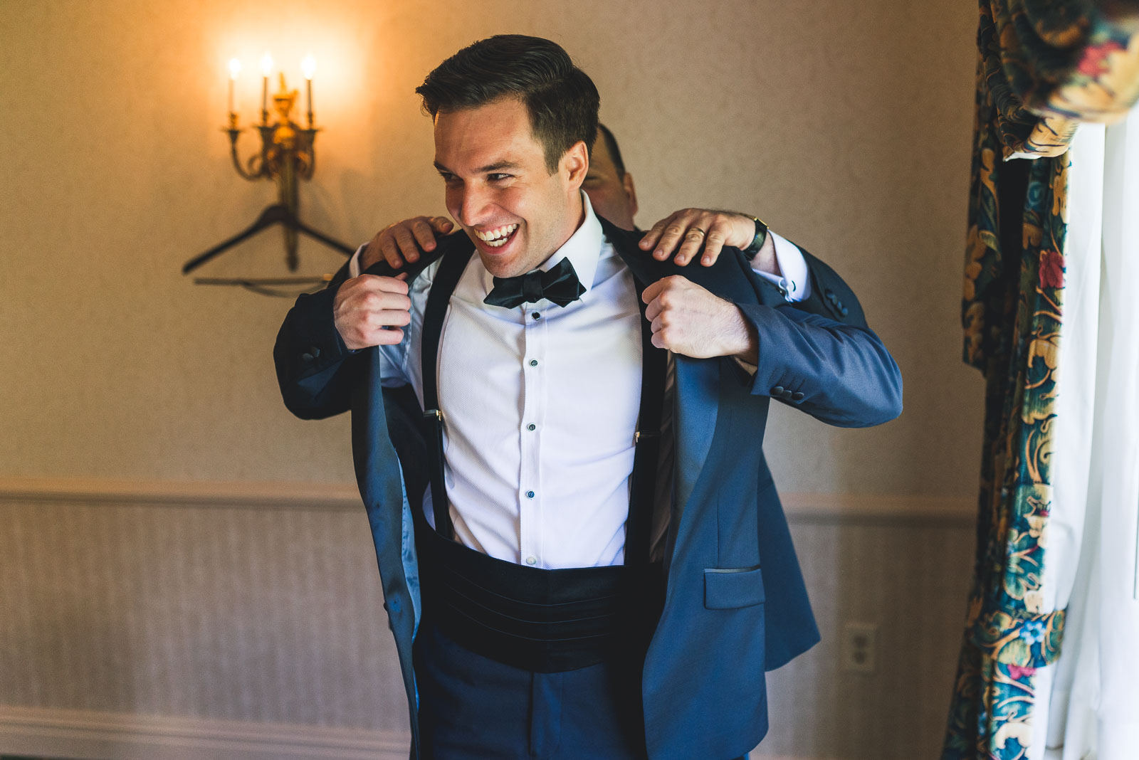 Groom gets Jacket on