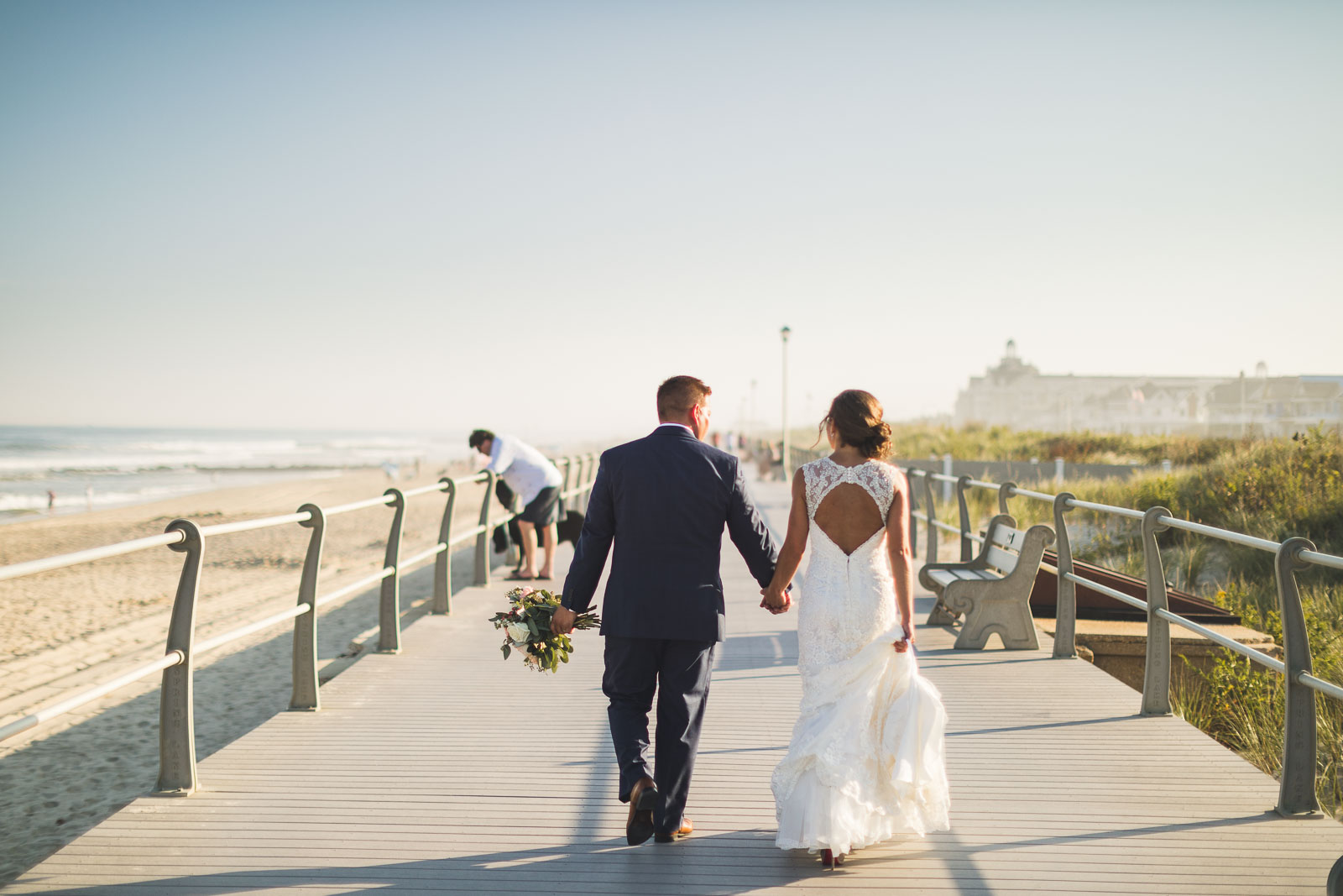 Spring Lake Beach Wedding Portraits