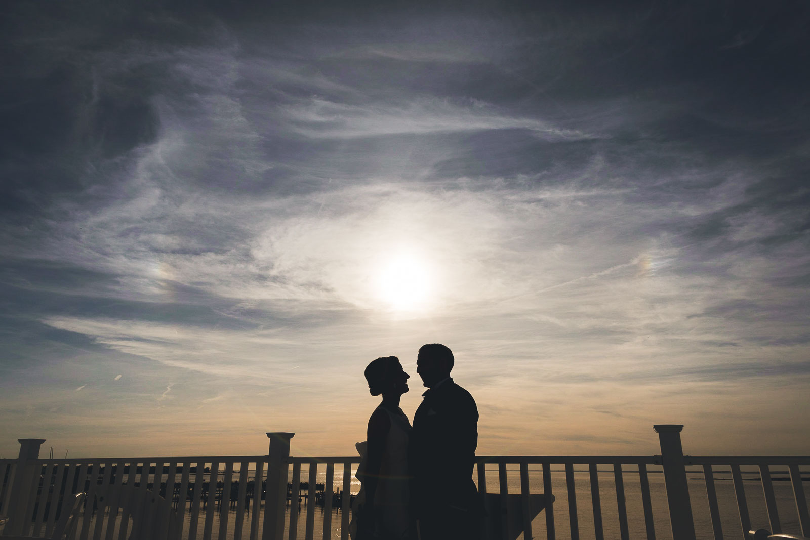 LBI Sunset Wedding Portrait