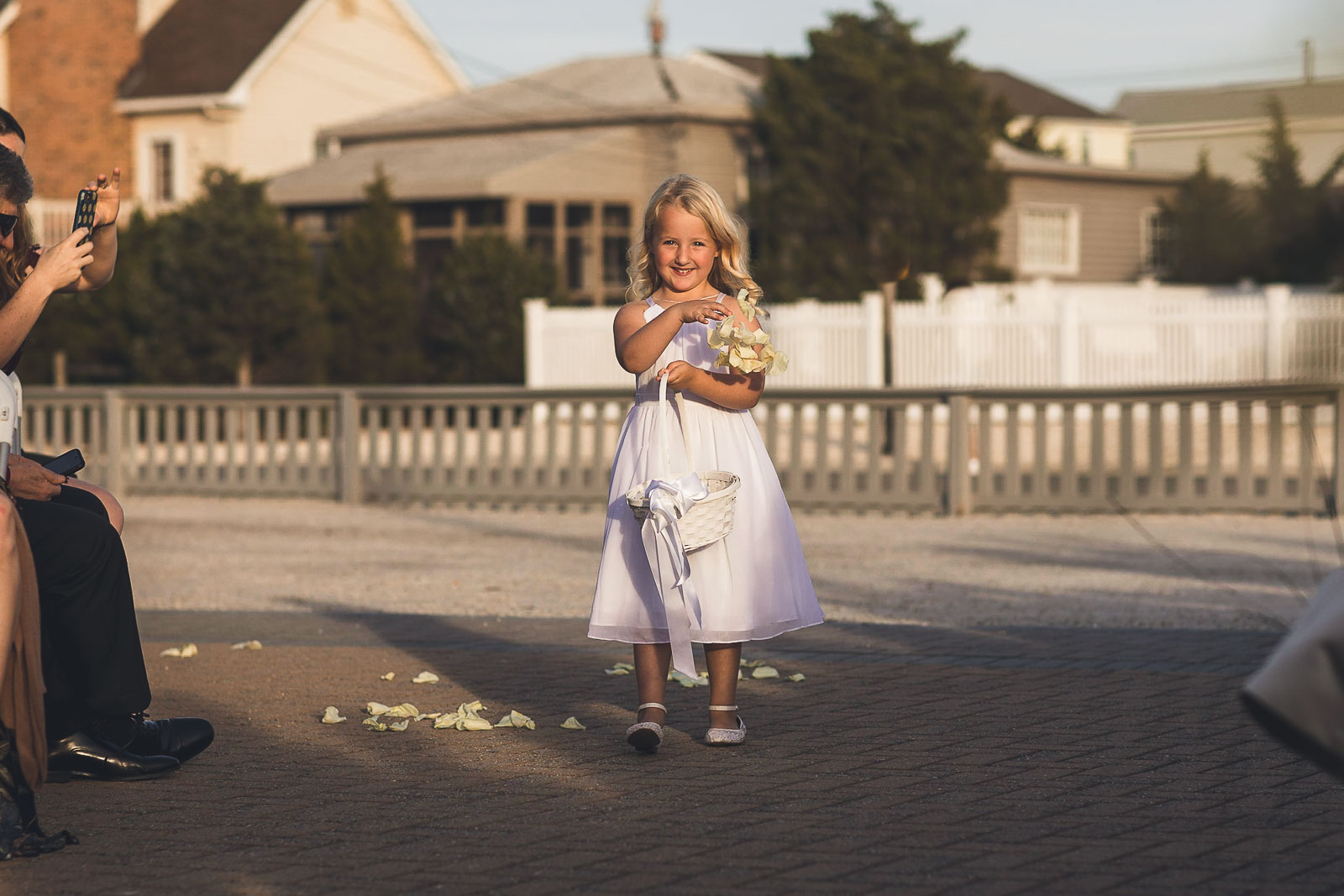 Flower girl smiles NJ Wedding