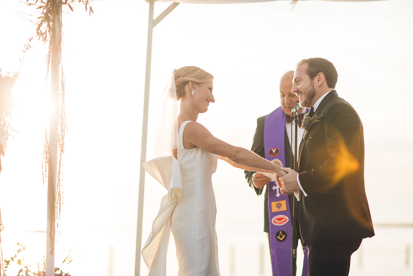 Long Beach Island Sunset Wedding Ceremony