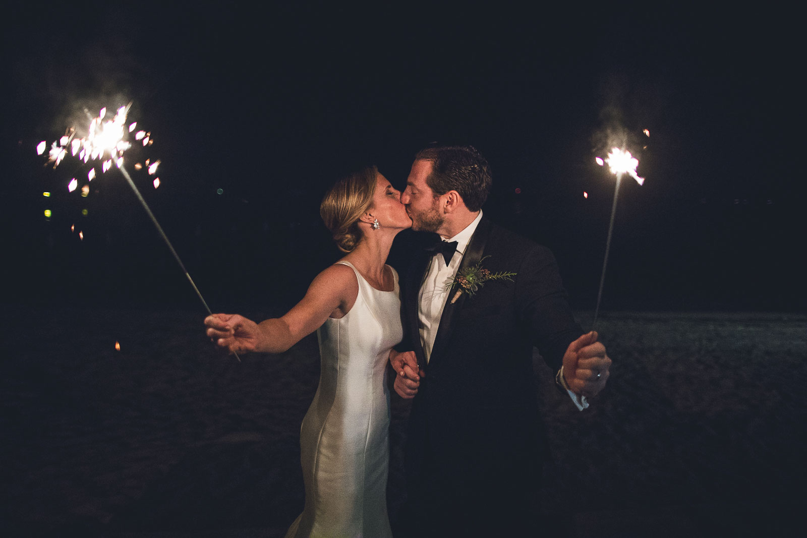 Sparkler Night Wedding Photos