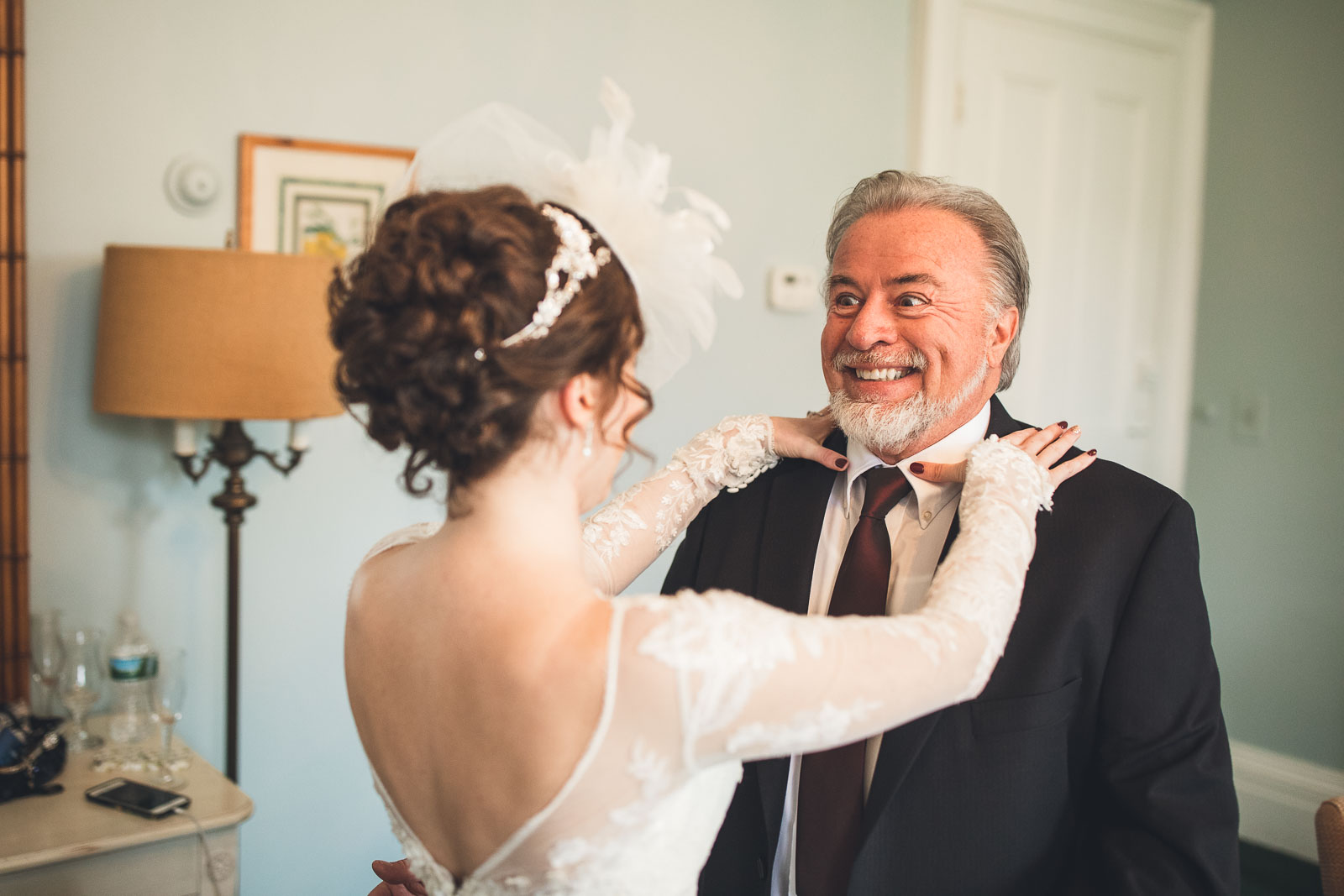 Bride has a moment with dad
