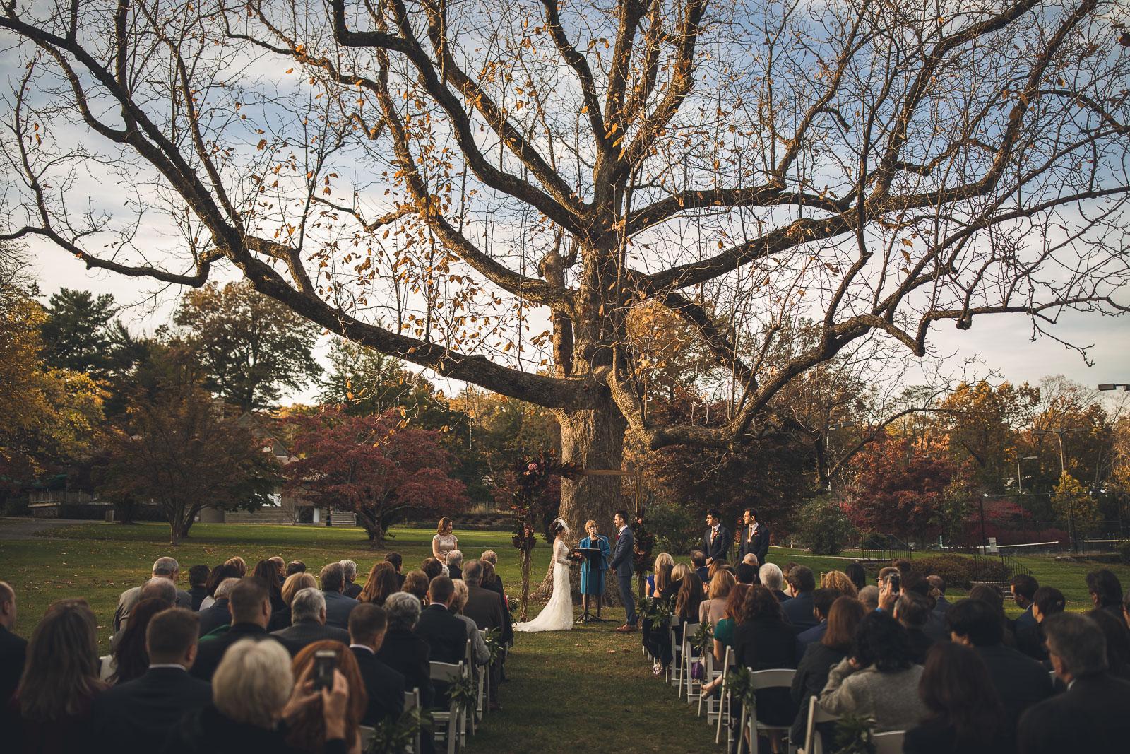 Wedding Ceremony Orange Lawn Tennis Club New Jersey