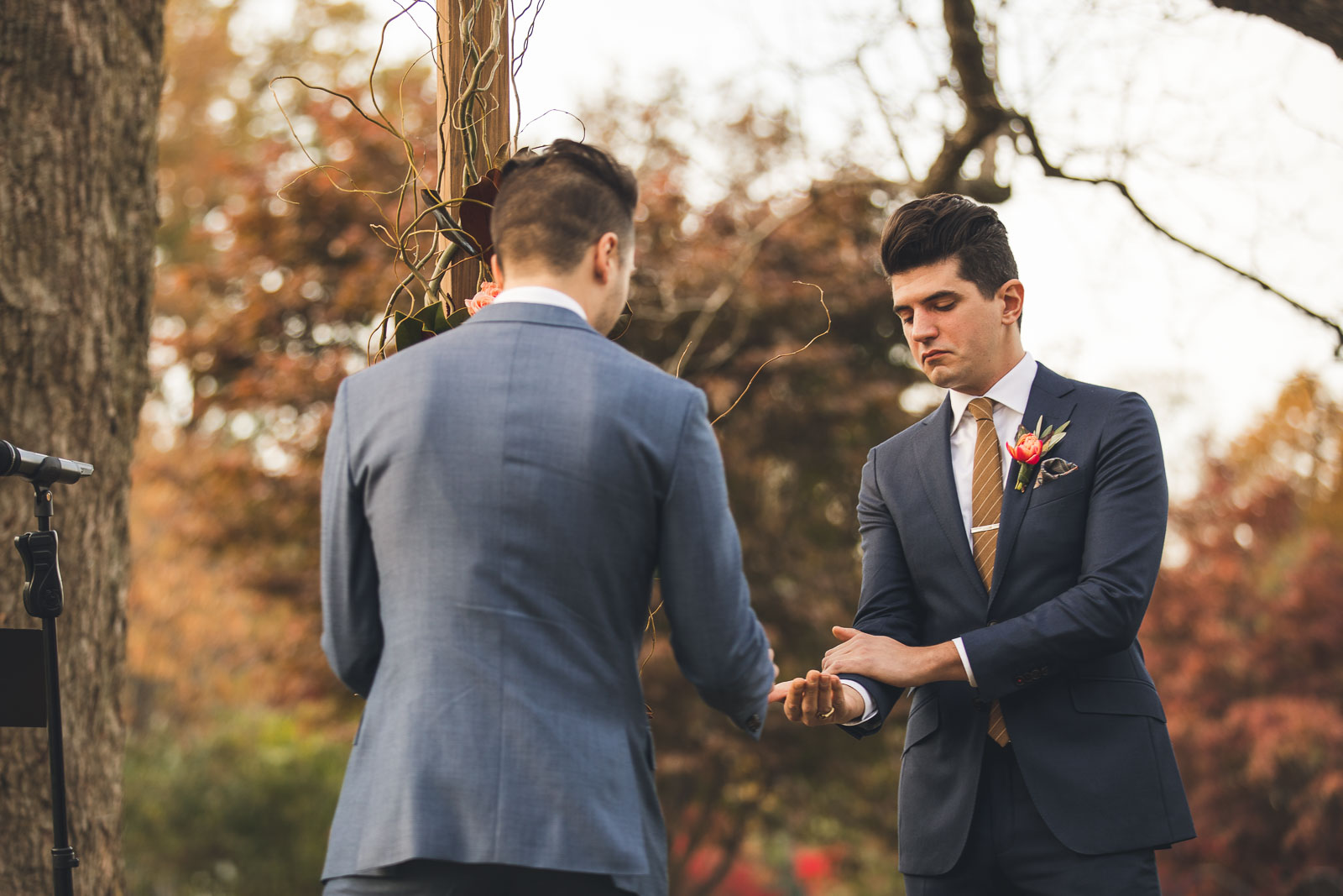 Groom gets rings from Brother