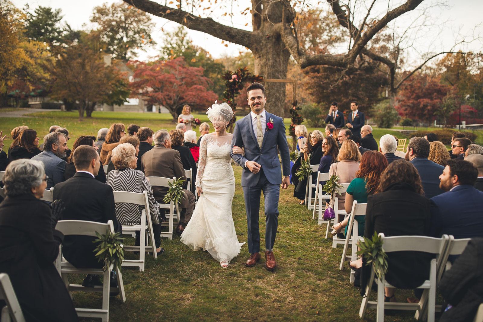 Just Married Wedding Ceremony Orange Lawn Tennis Club