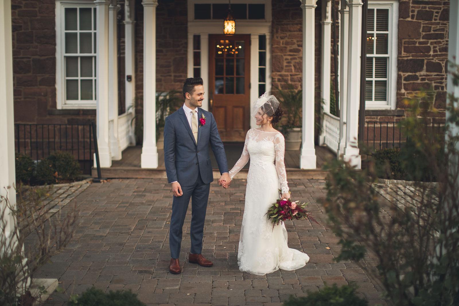 Orange Lawn Tennis Club Wedding Portrait