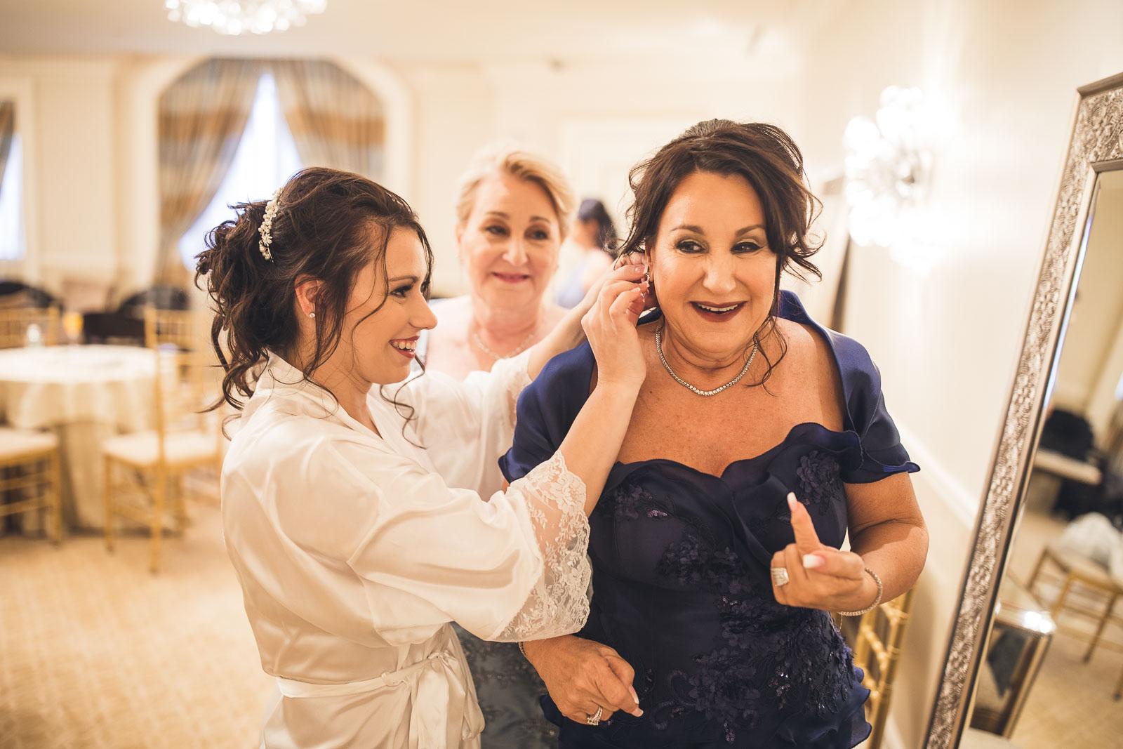Grove Bride helps mom