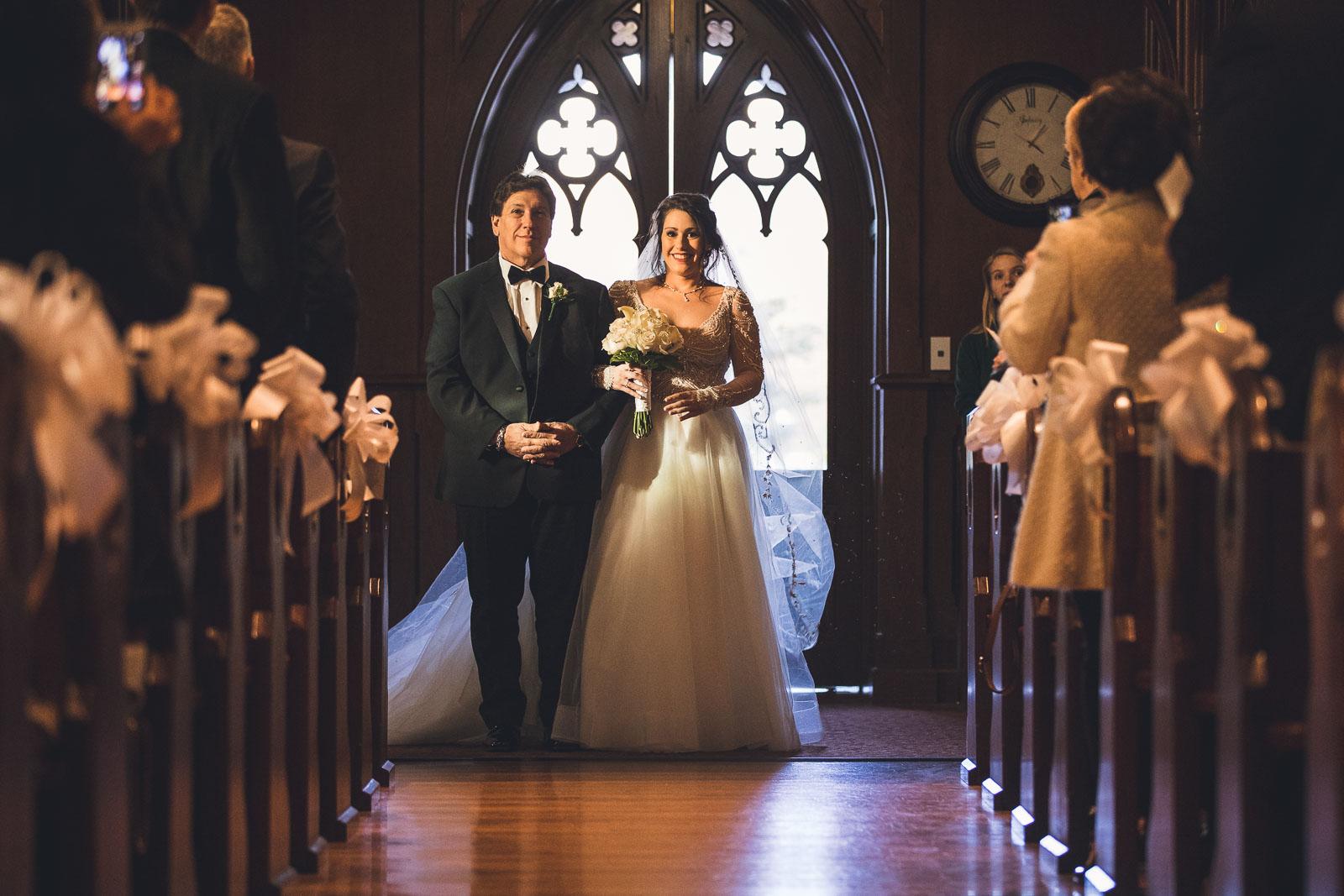 Seton Hall Wedding Bride and Father