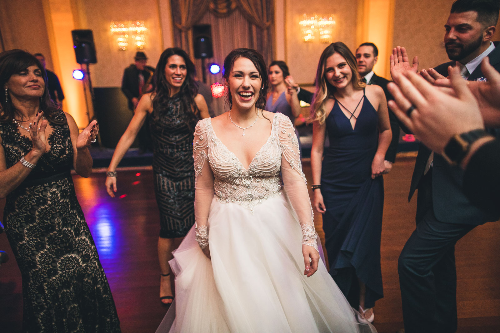 Bride Laughs at The Grove Wedding